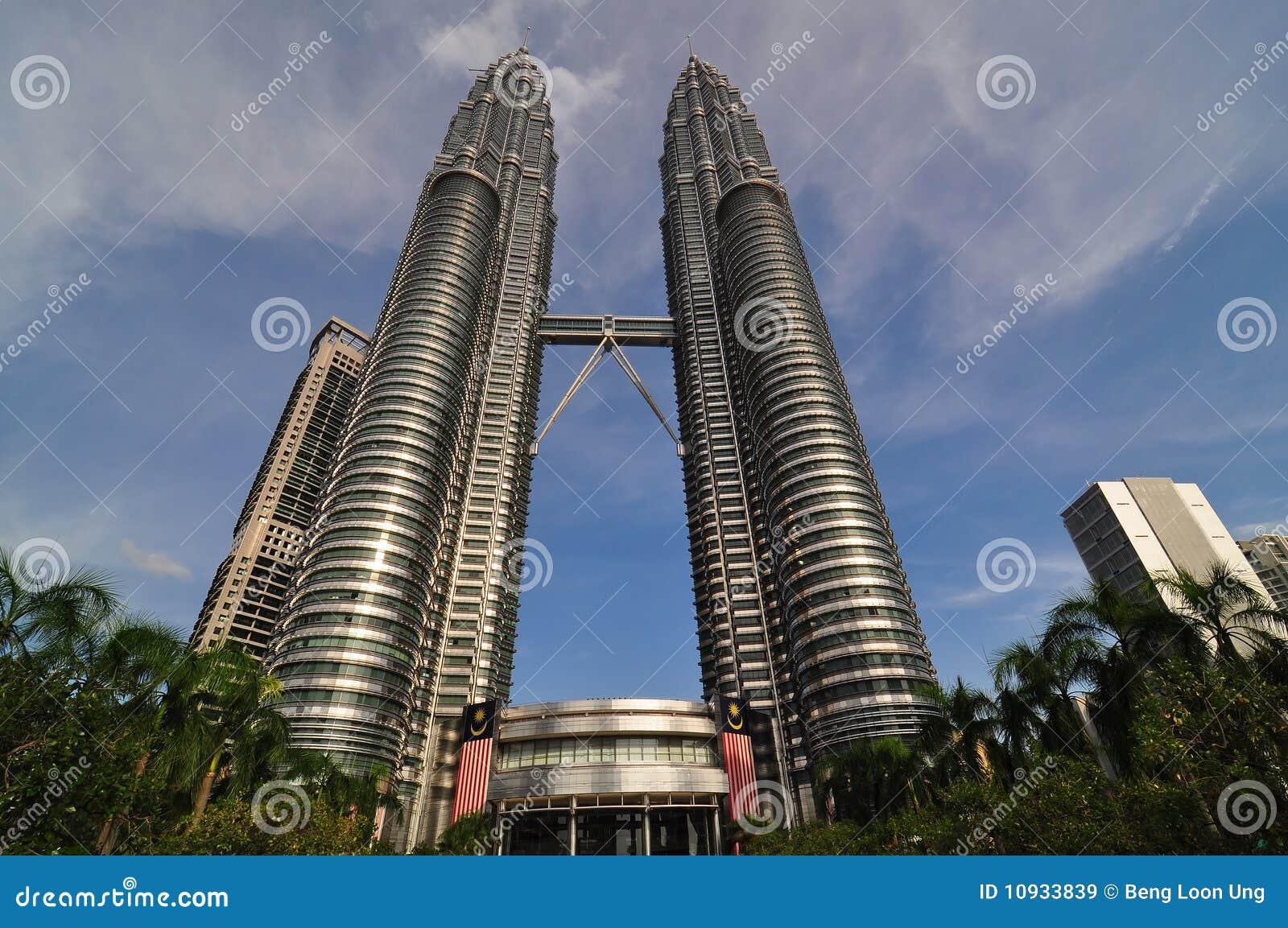 Куала Лумпур Малайзия petronas возвышается близнец