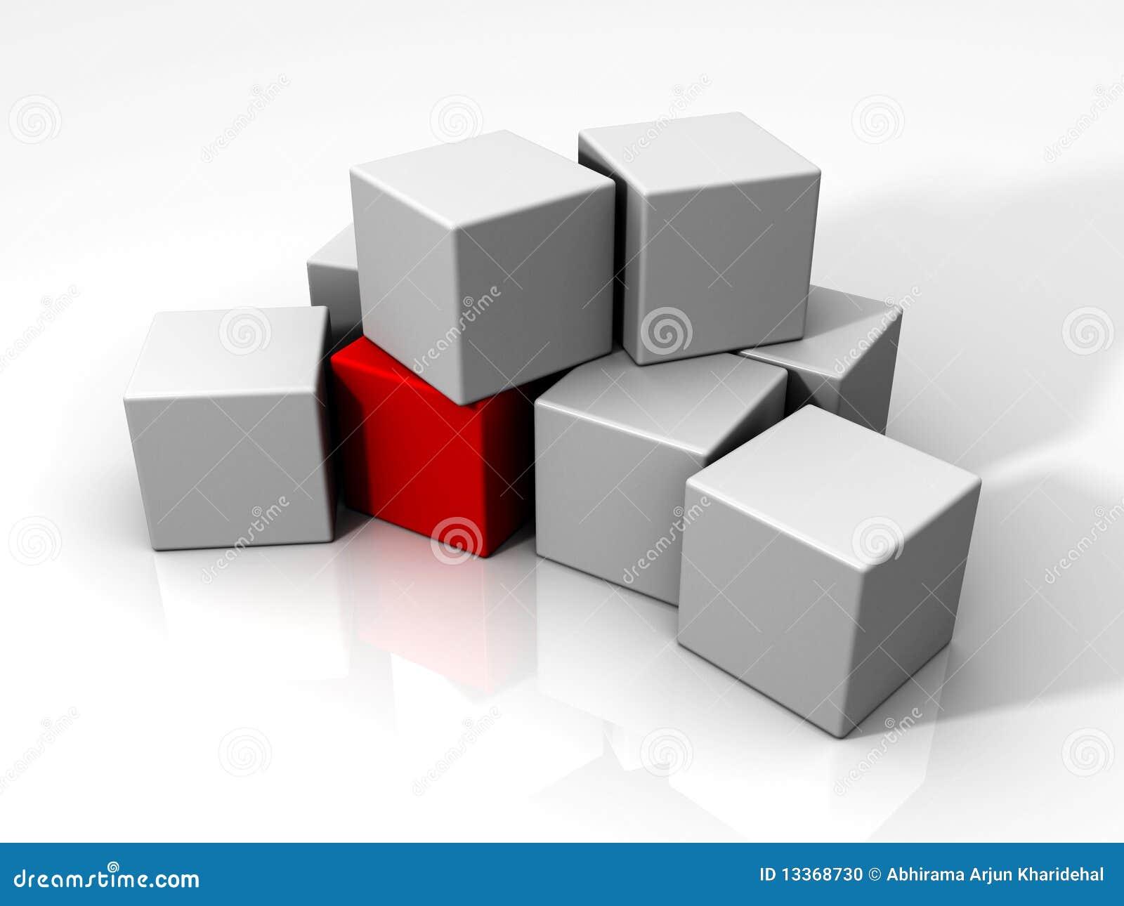 кубик cubes индивидуал много красная белизна