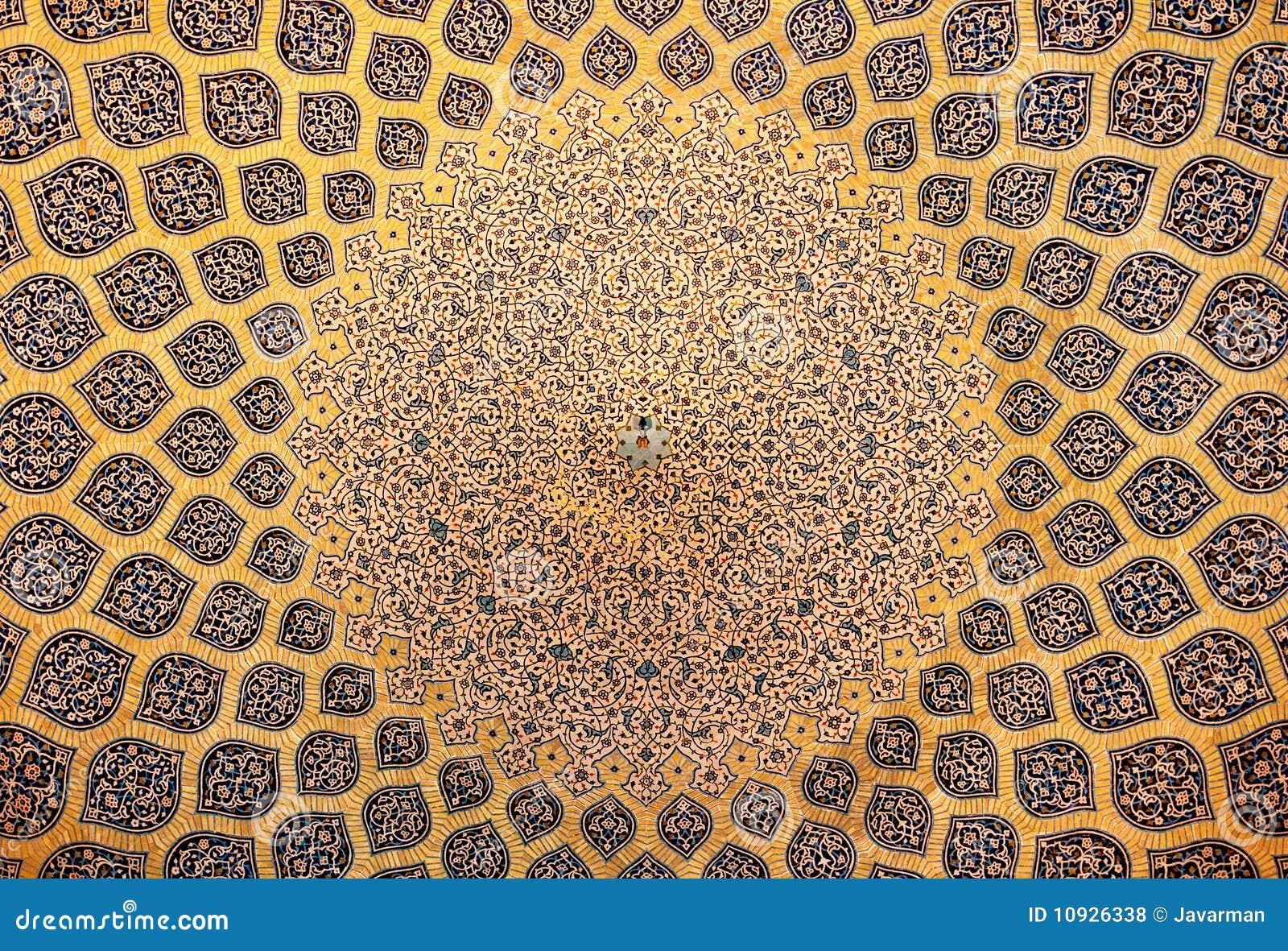 Купол мечети, востоковедные орнаменты, Isfahan