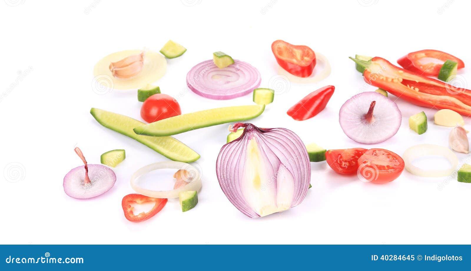 Куски овощей