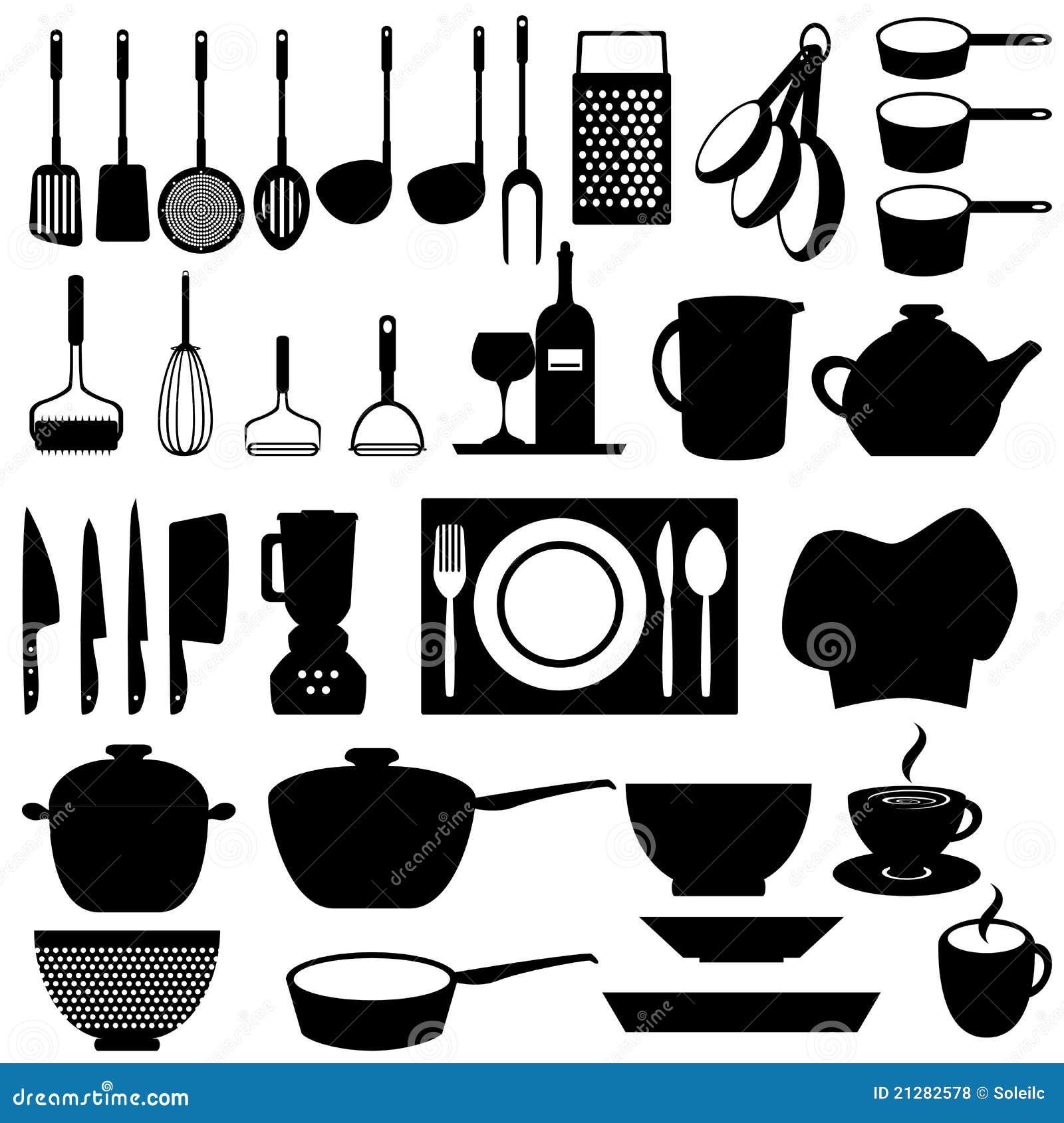 кухня оборудует утвари