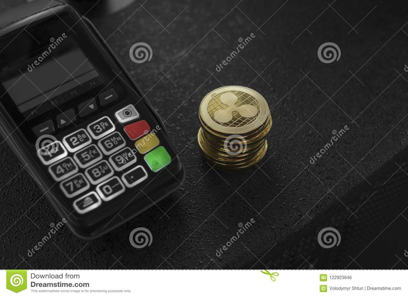 Куча монеток валюты пульсации золота секретных и стержня POS Пульсации Cryptocurrency Электронная коммерция, дело, финансы