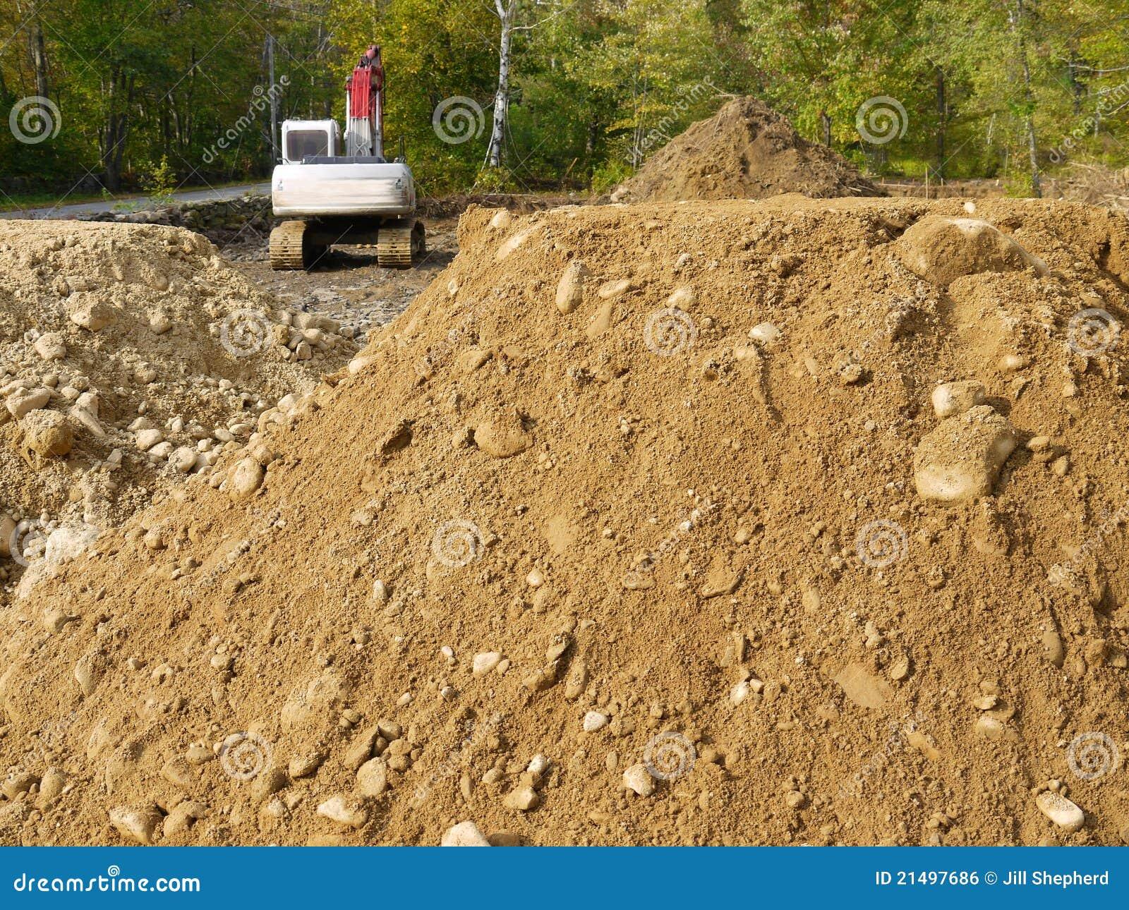 кучи h земли конструкции backhoe