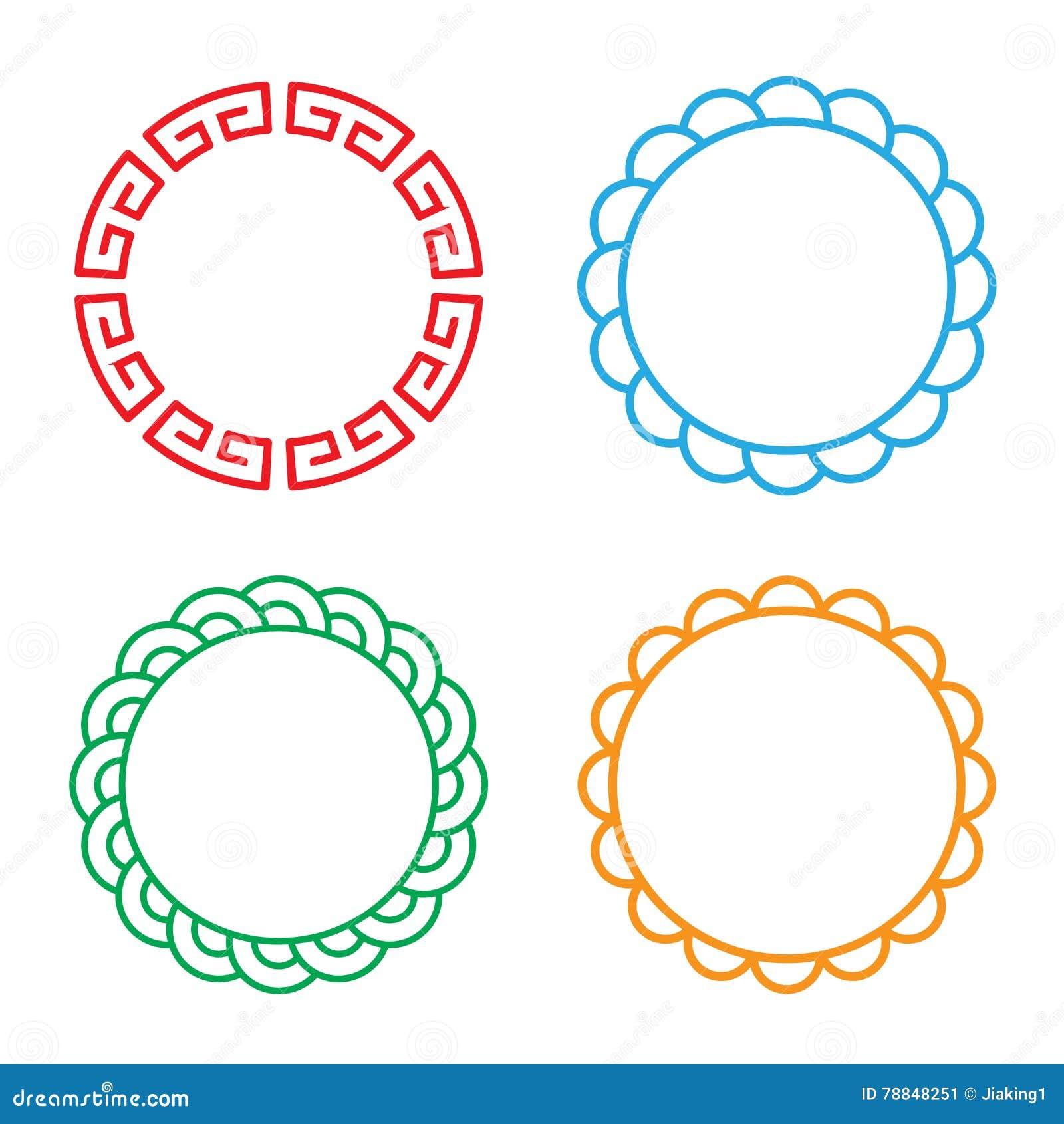 Классическая китайская рамка окна и фото круга