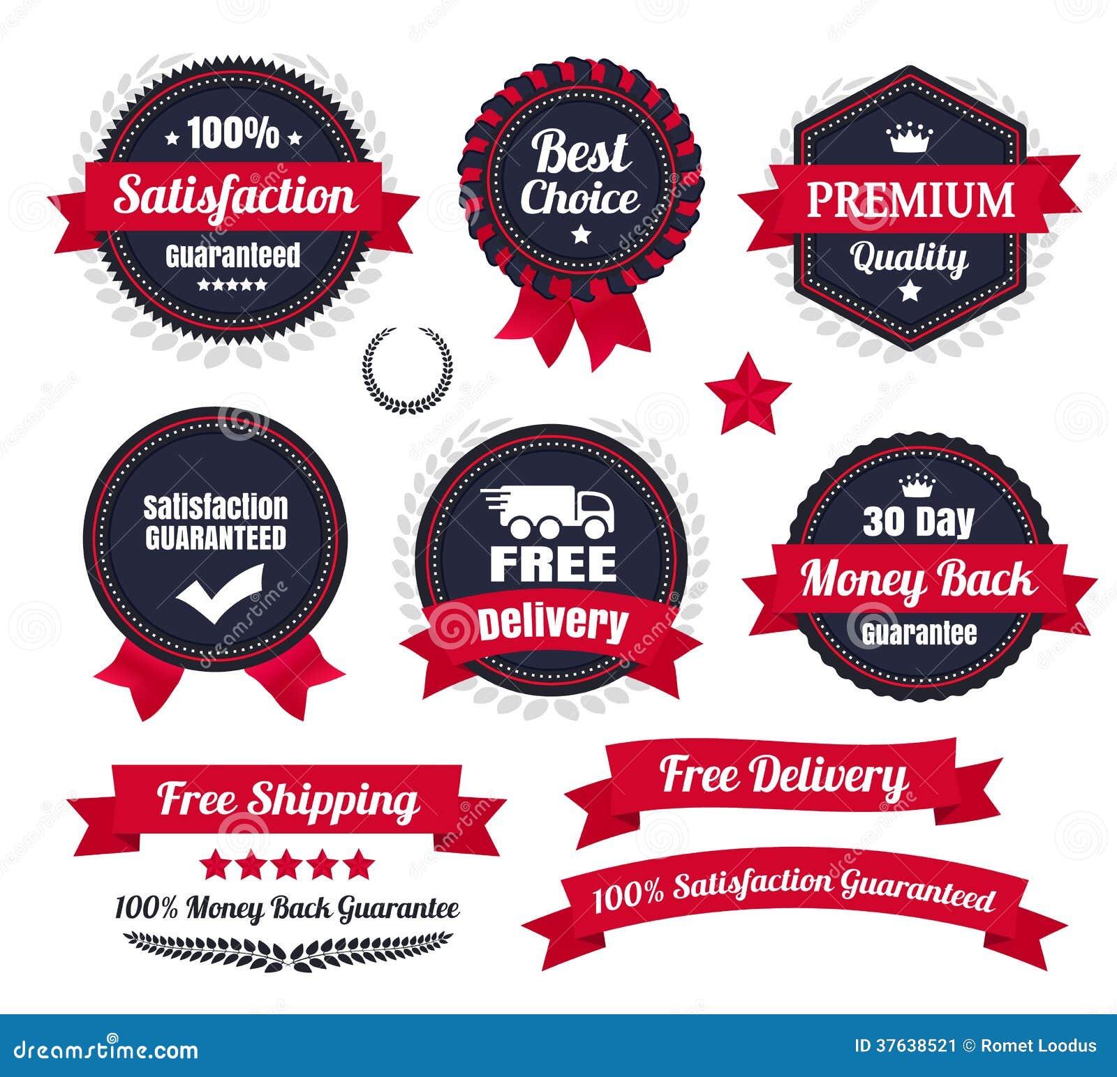 Классические наградные качественные значки Ecommerce