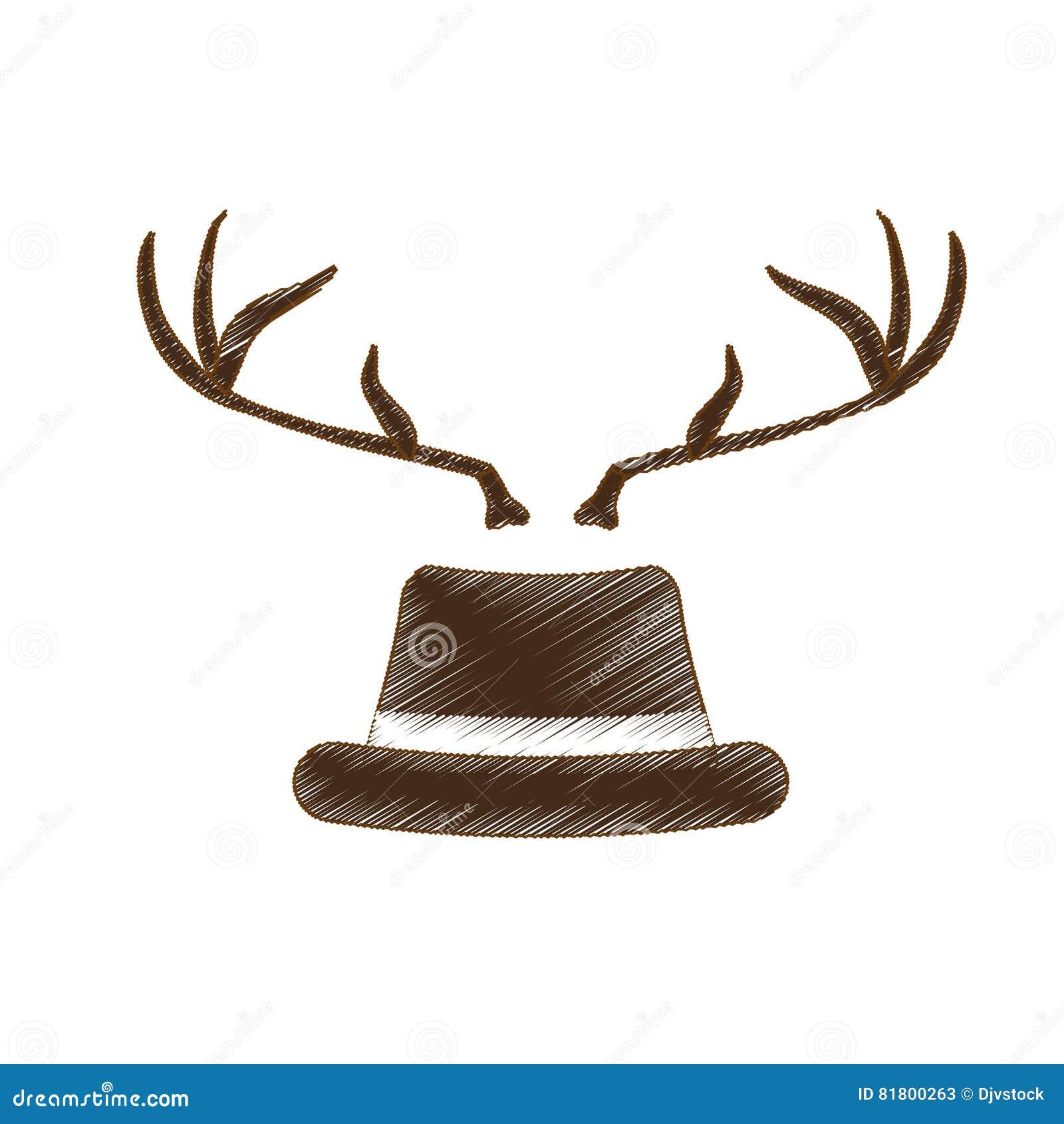 Классическое изображение значка шляпы