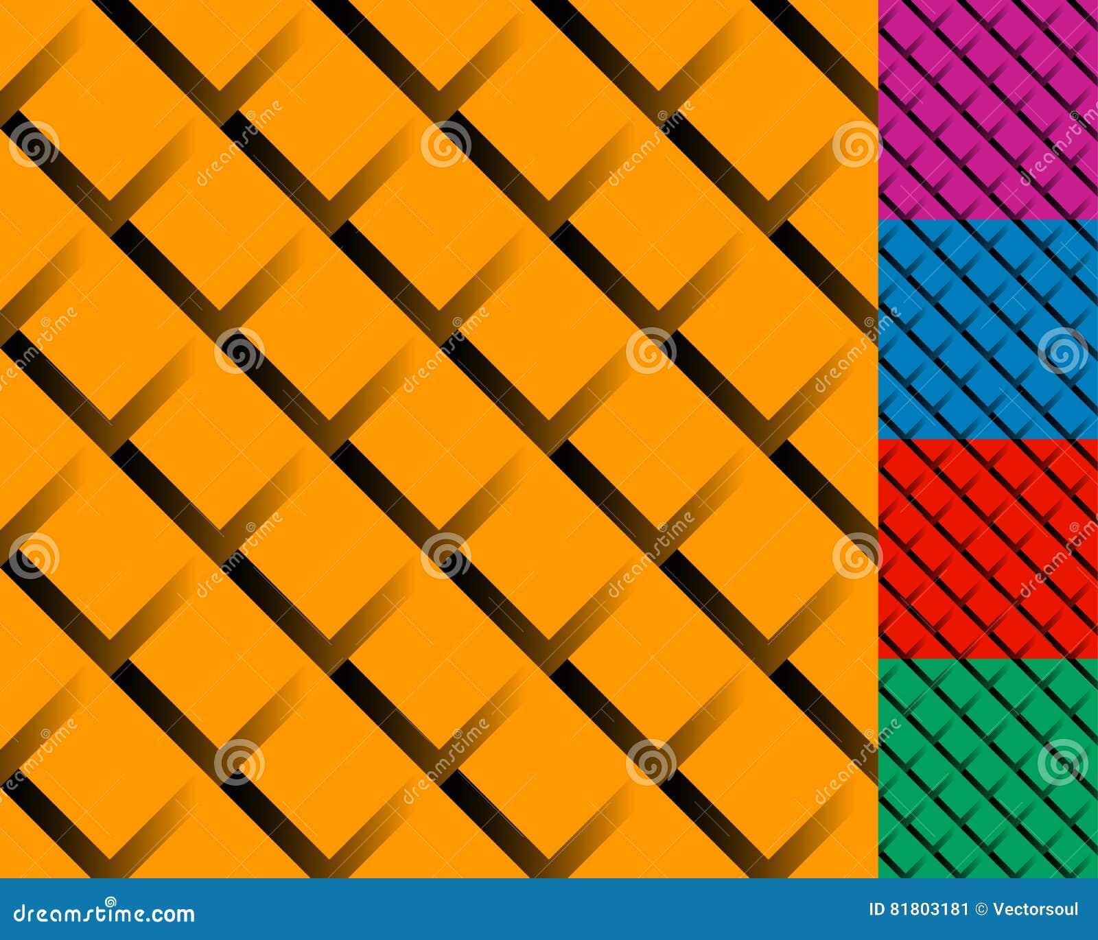Клетчатая решетка, картина сетки с тенью Переплетенный перекрывая l