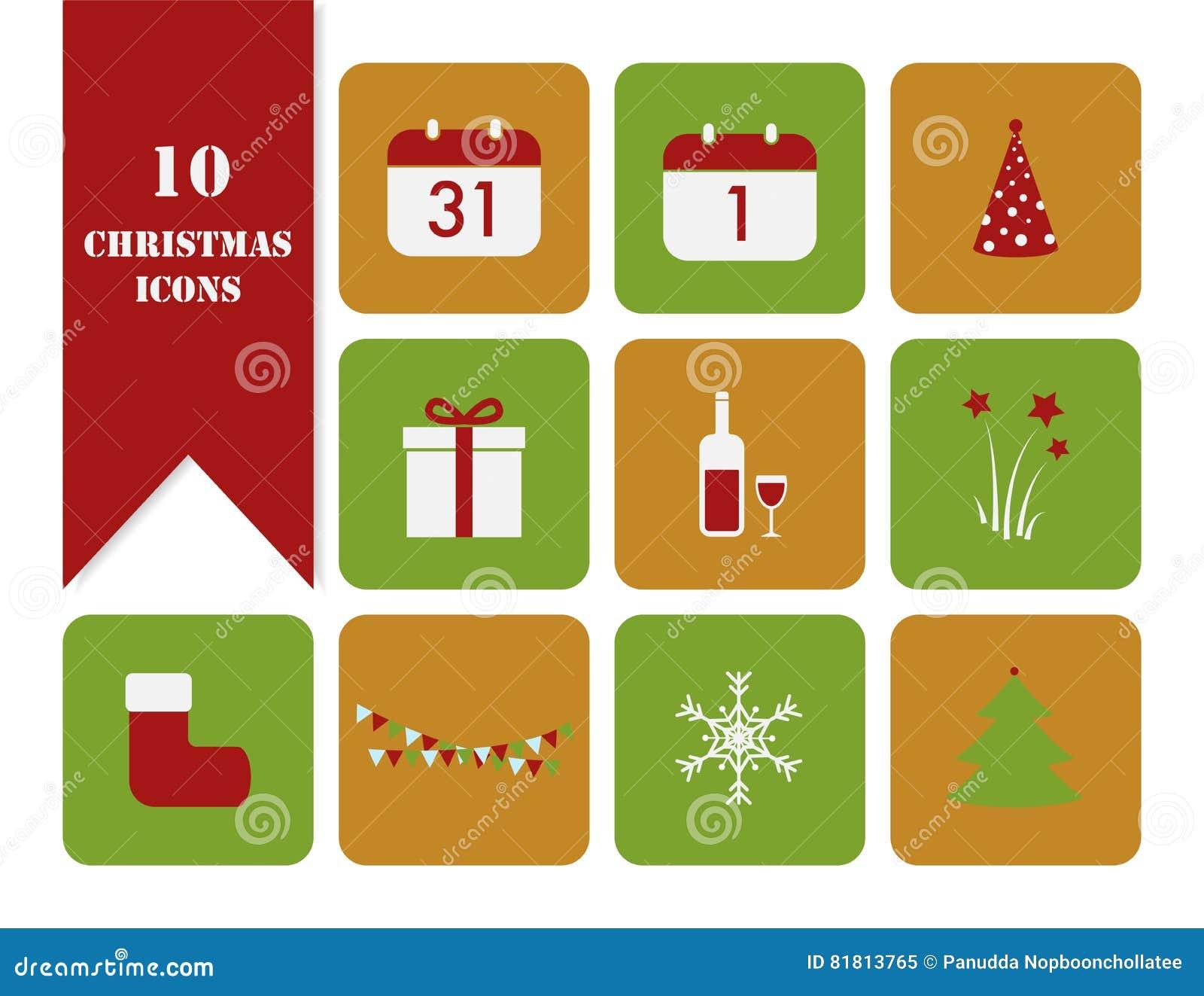 клиппирование рождества содержит цифровые установленные пути иллюстрации иконы