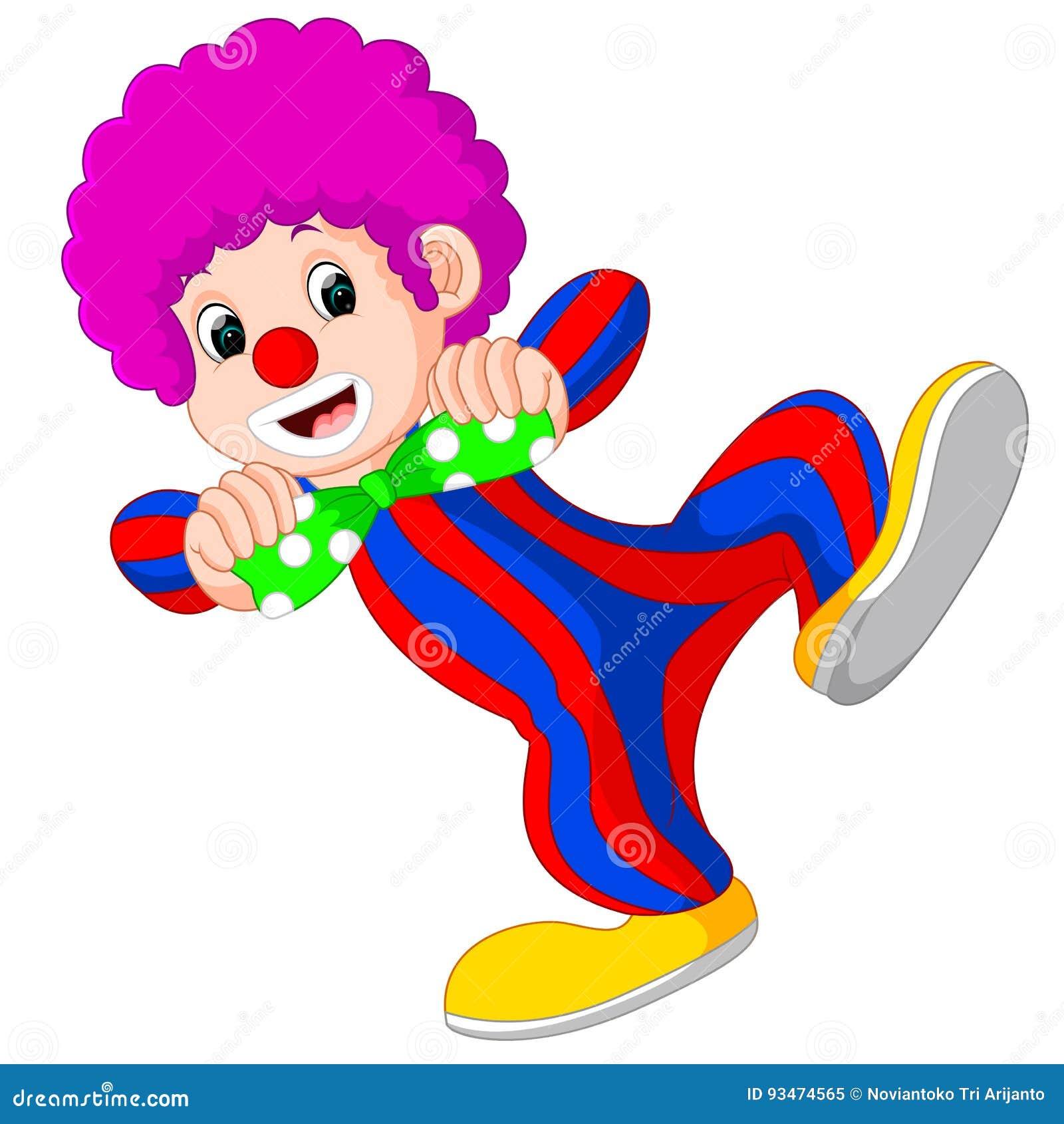 Клоун используя большой шарж связи