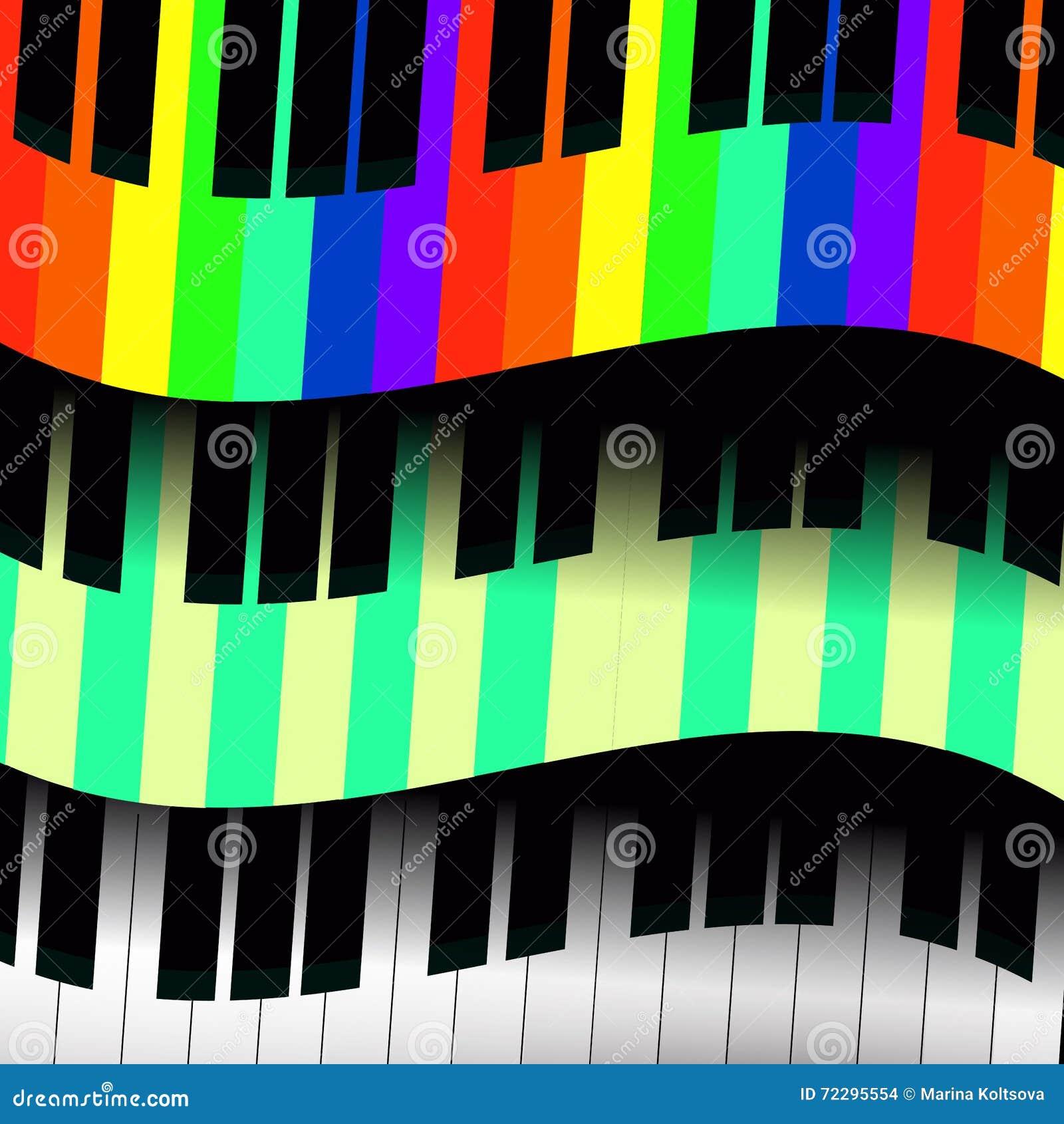 Download Ключи рояля в форме волн иллюстрация вектора. иллюстрации насчитывающей волны - 72295554