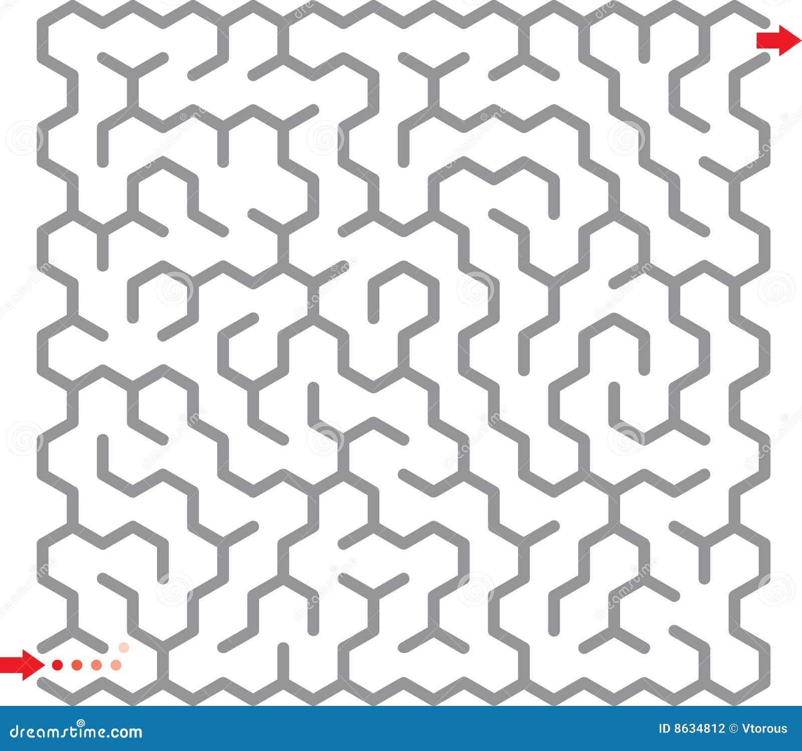 лабиринт шестиугольника