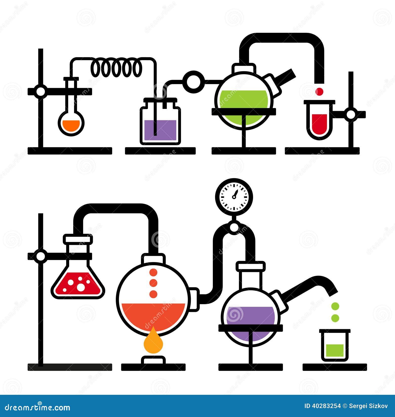 Лаборатория химии Infographic