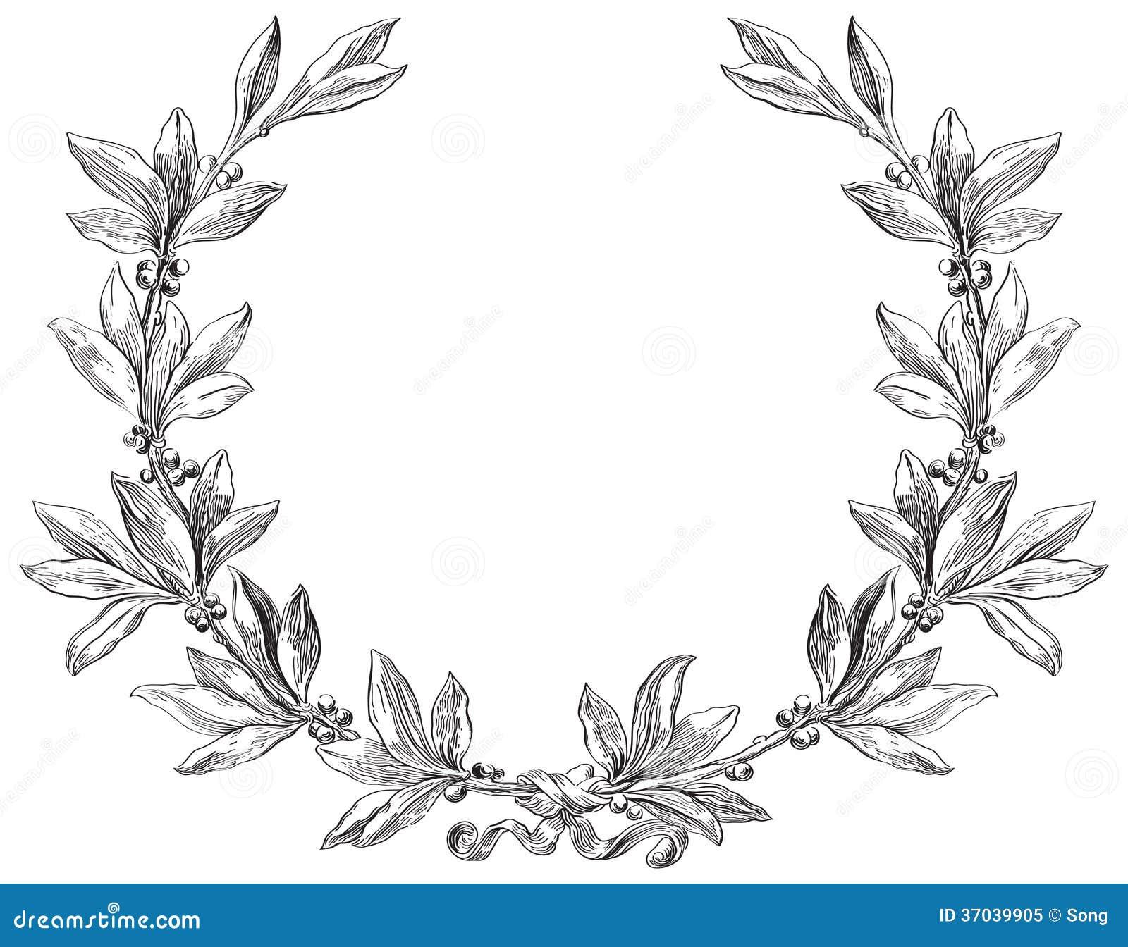 лавровые венки из ветки