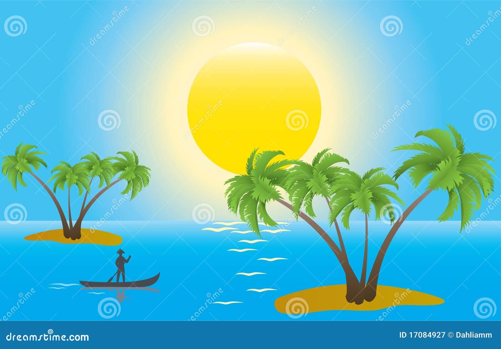 ладонь утра островов тропическая