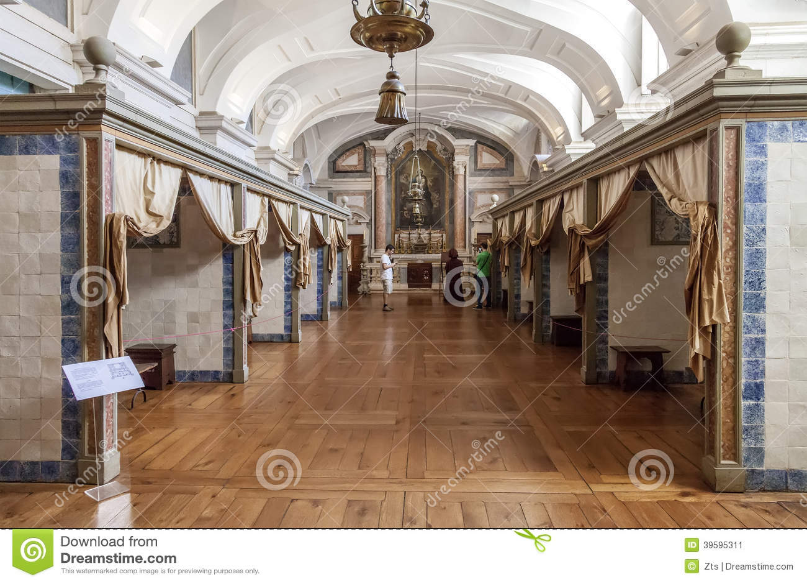 Лазарет для серьезно дворца, монастыря и базилики ILL. Mafra национального