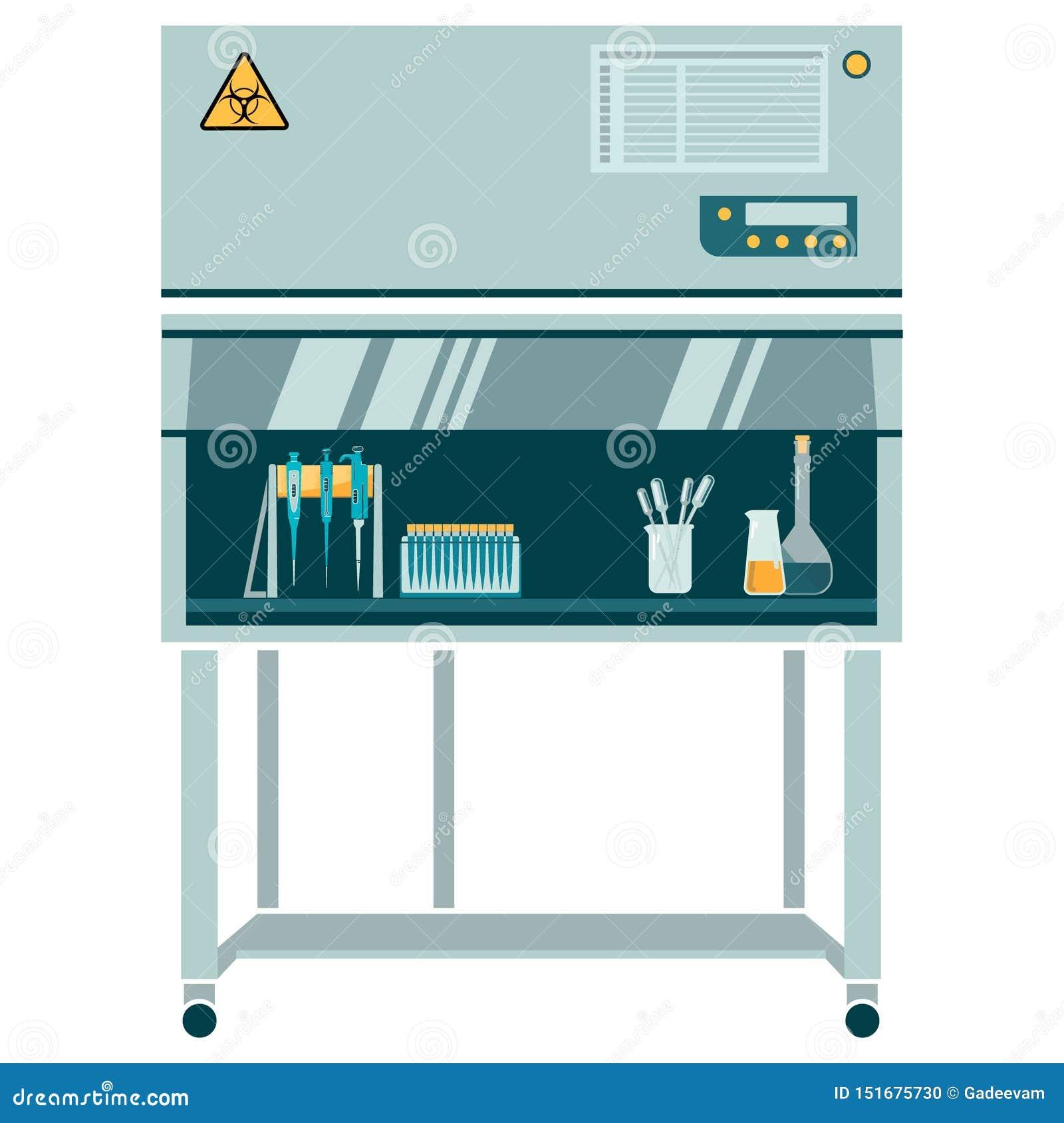 Ламинарная коробка с labware