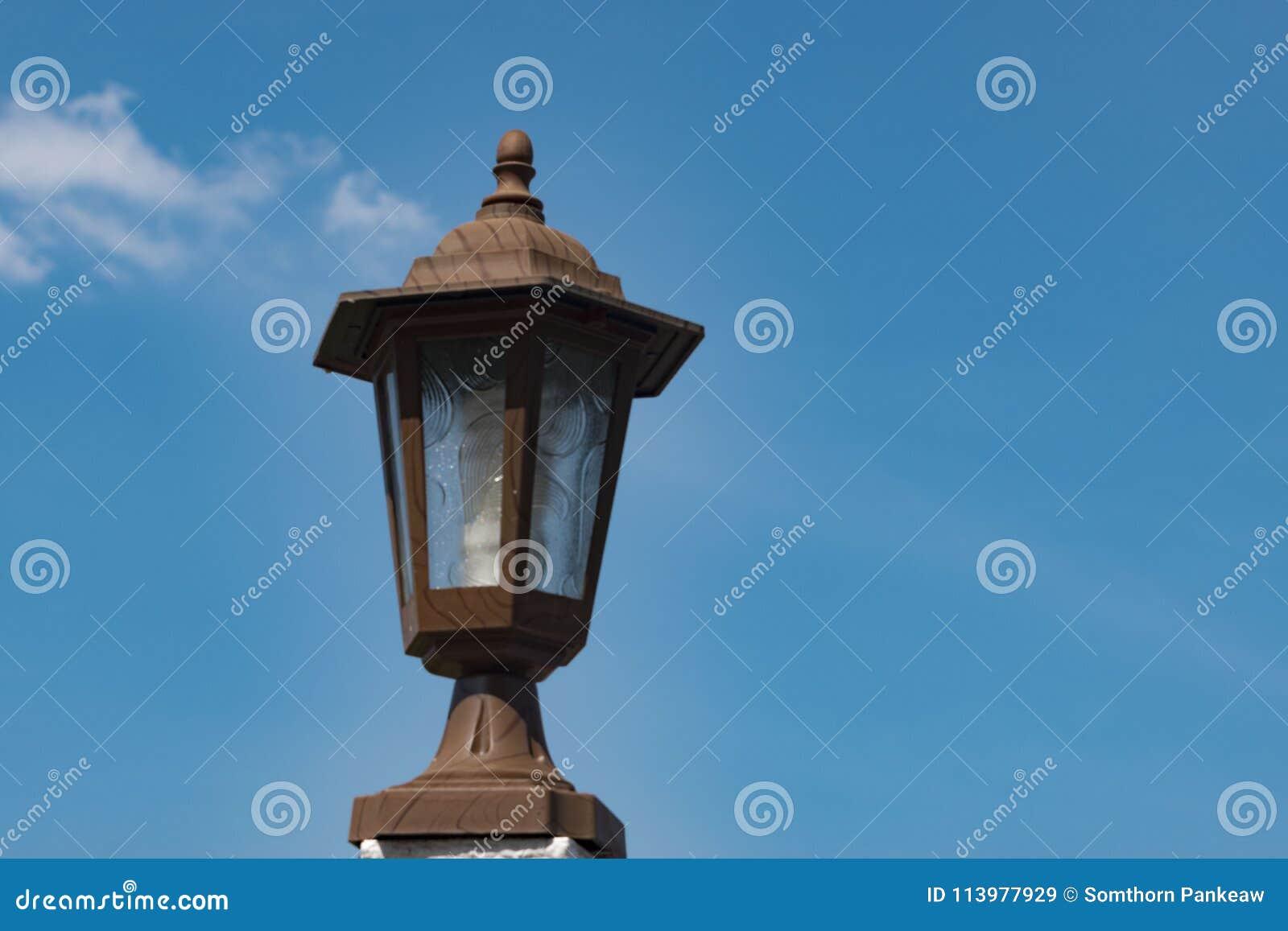 Лампа с небом
