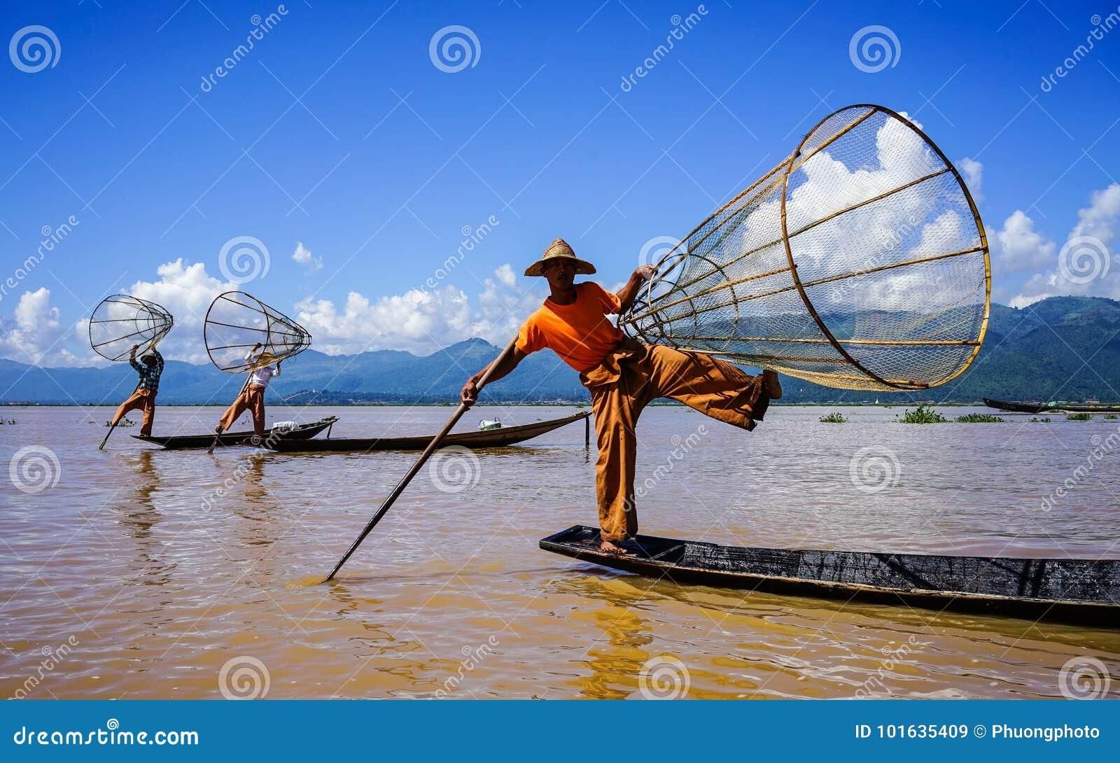 Ландшафт озера Inle, Мьянмы