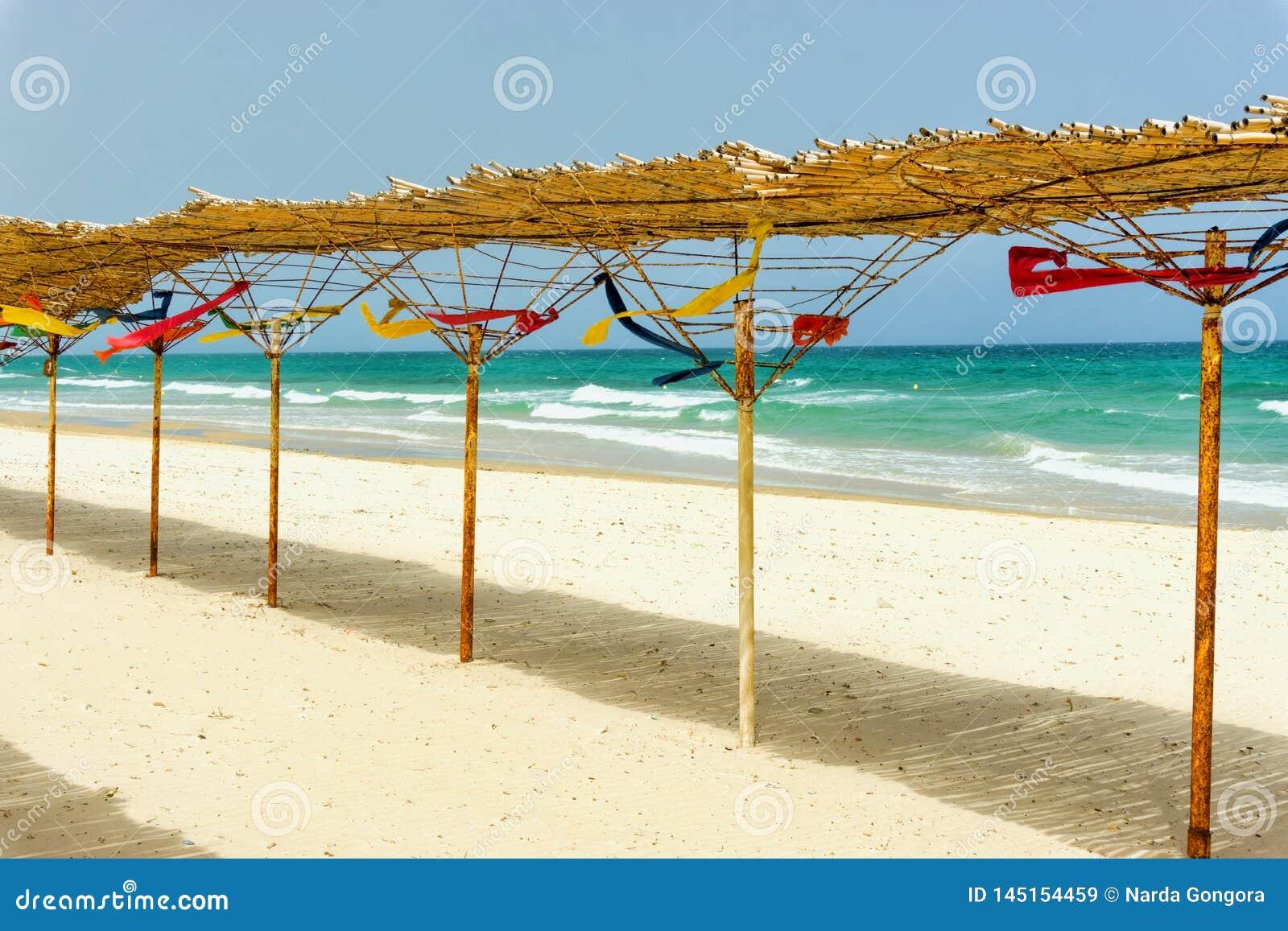Ландшафт пляжа Sousse в Тунисе