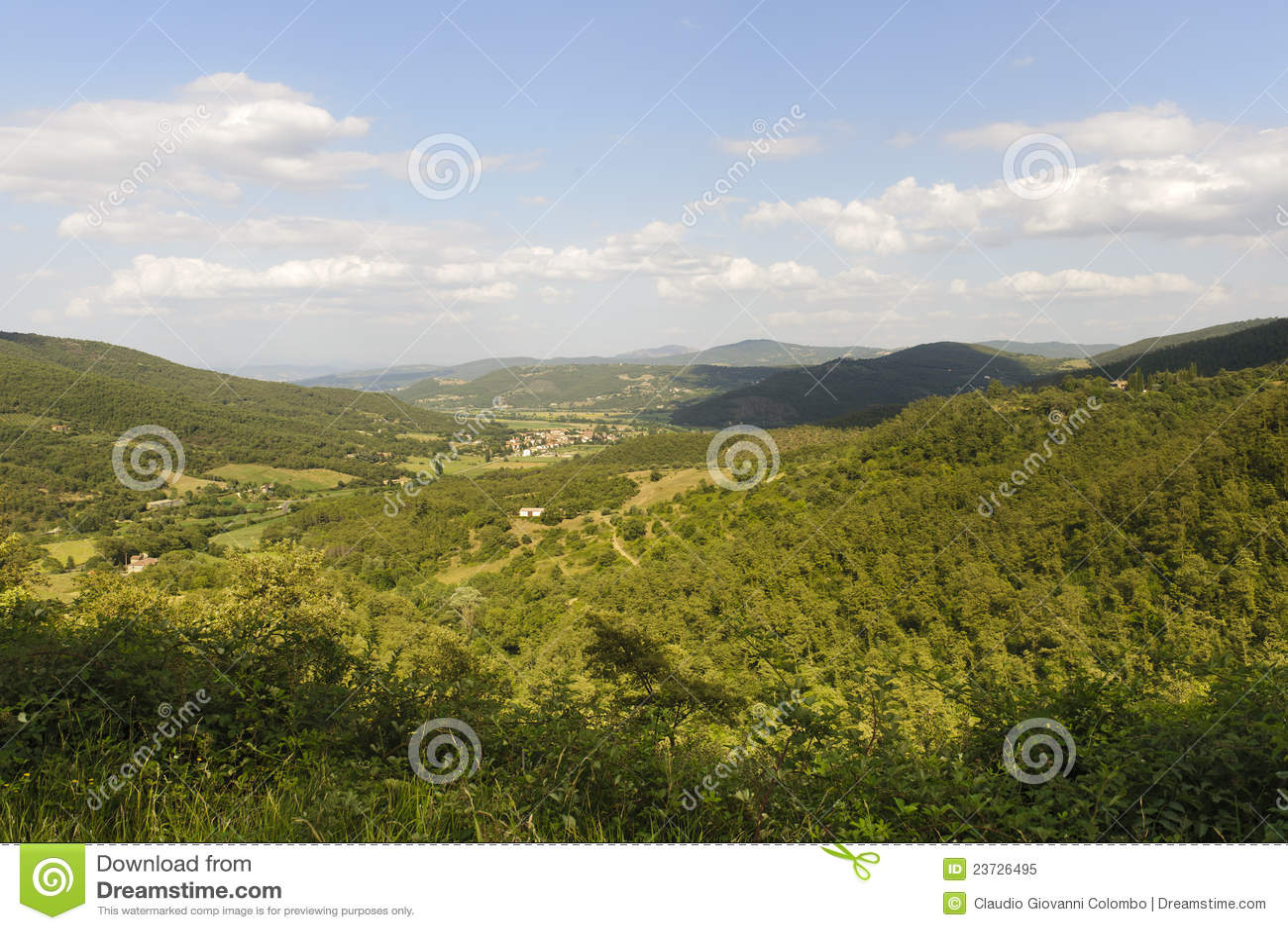 ландшафт Тоскана