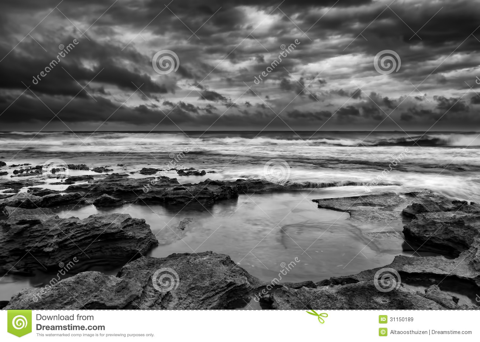 Ландшафт восхода солнца океана
