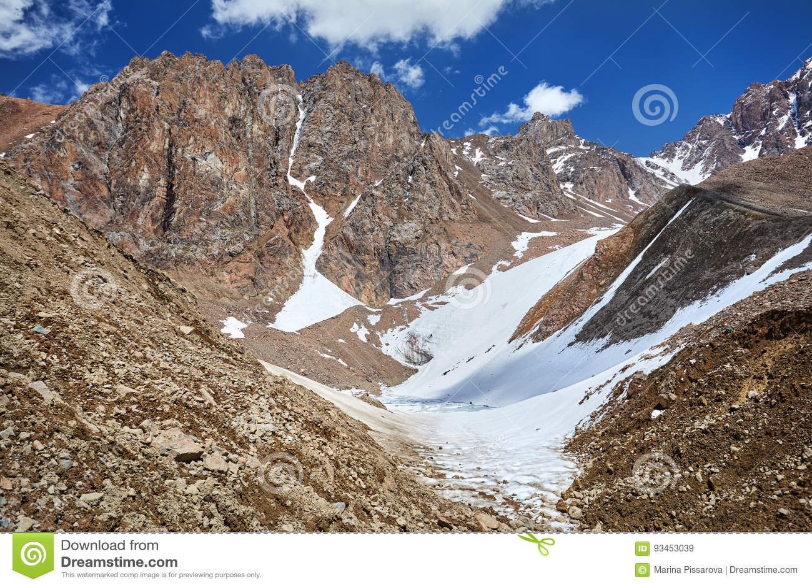 Ландшафт горы Snowy