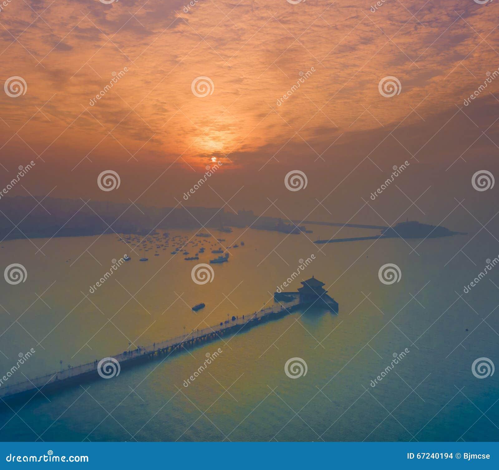 Ландшафт Китай побережья Qingdao