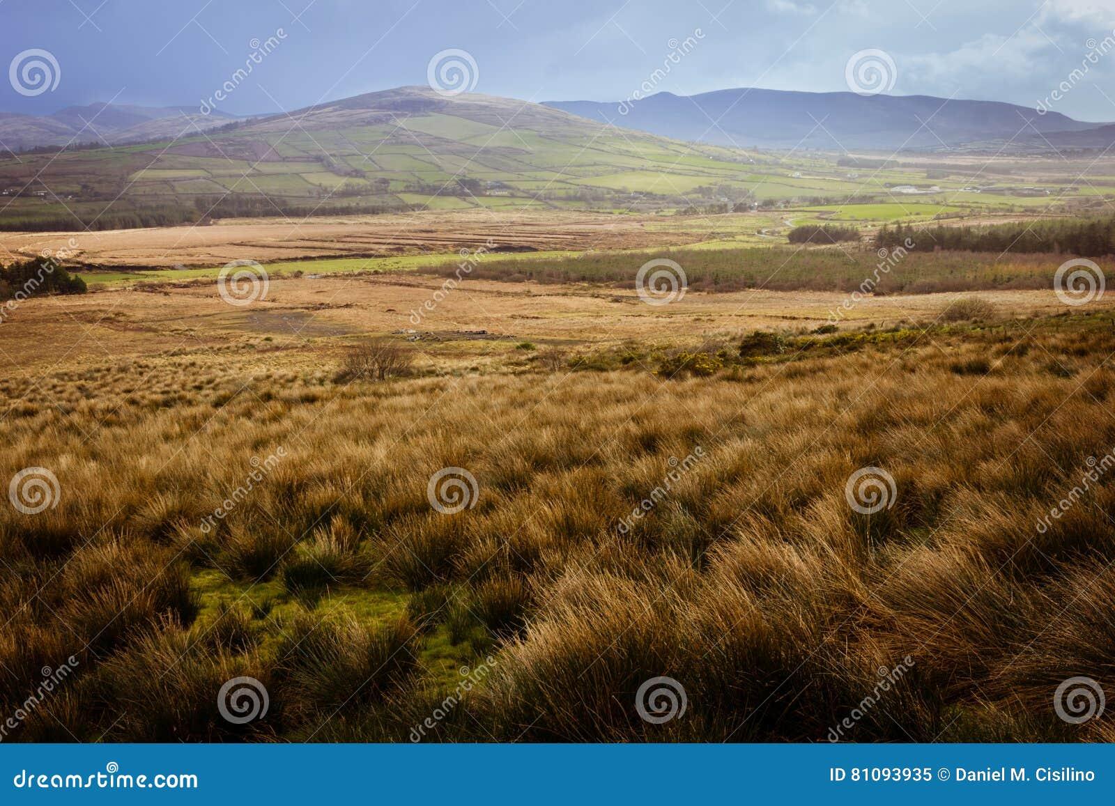 Ландшафт Кольцо Керри Ирландия