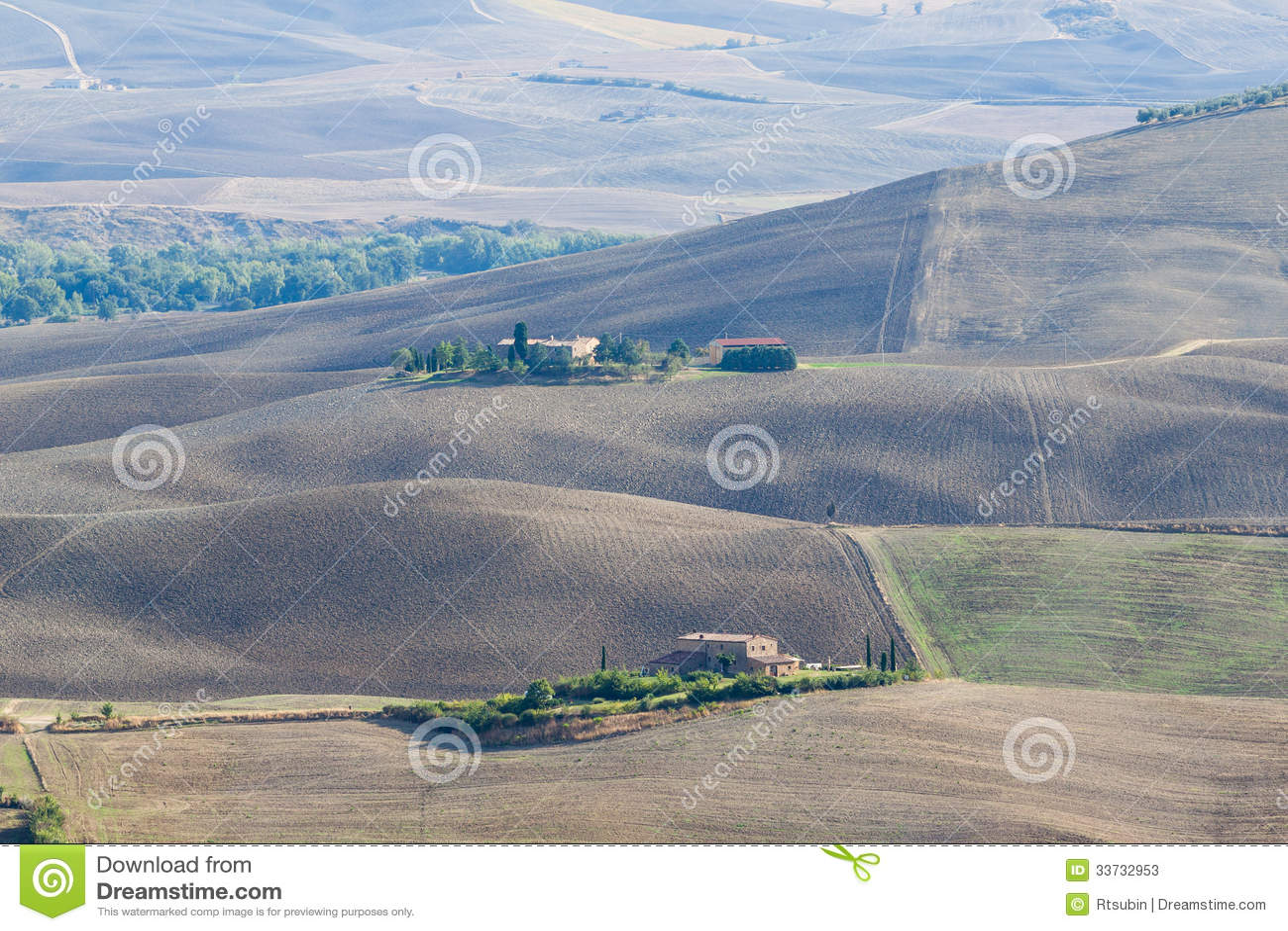 Ландшафт осени Тосканы