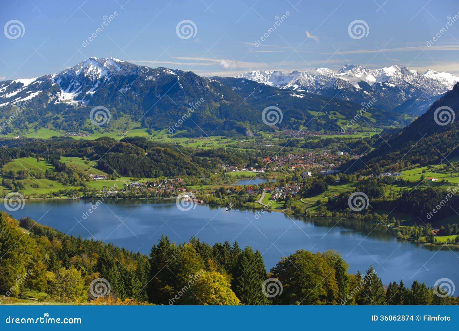 Ландшафт панорамы в Баварии