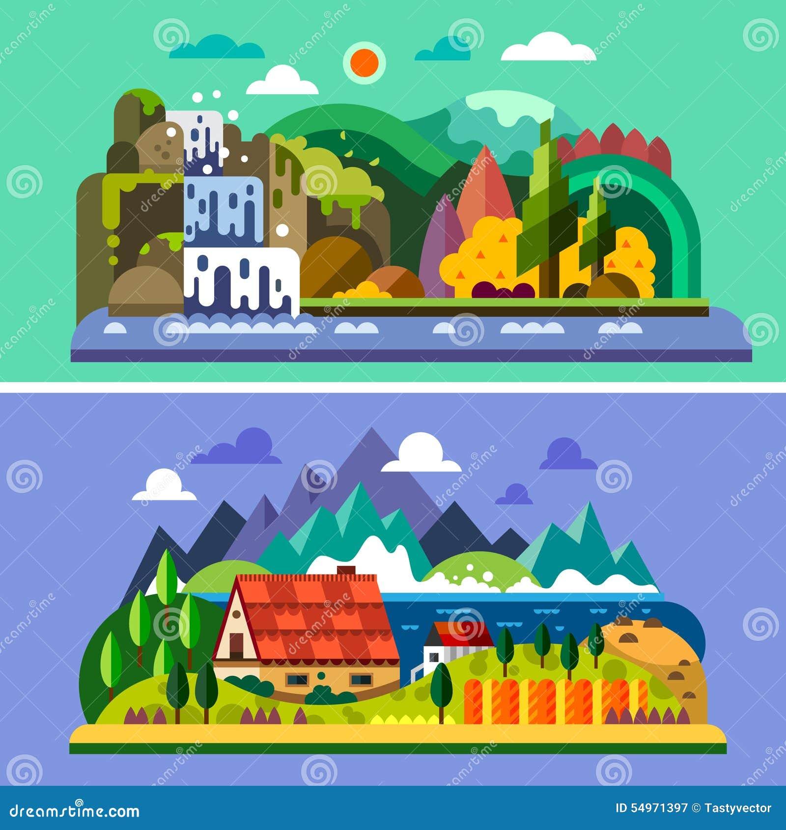 Ландшафт села