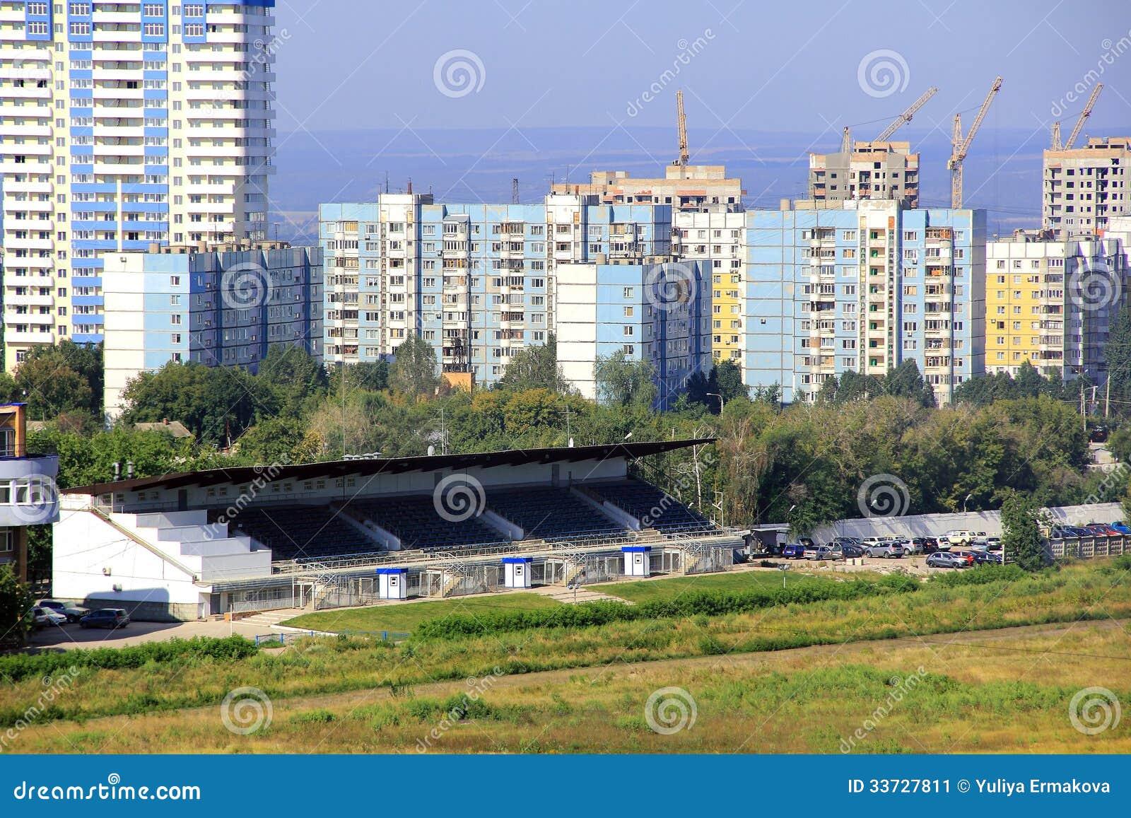 Ландшафт с строительной площадкой