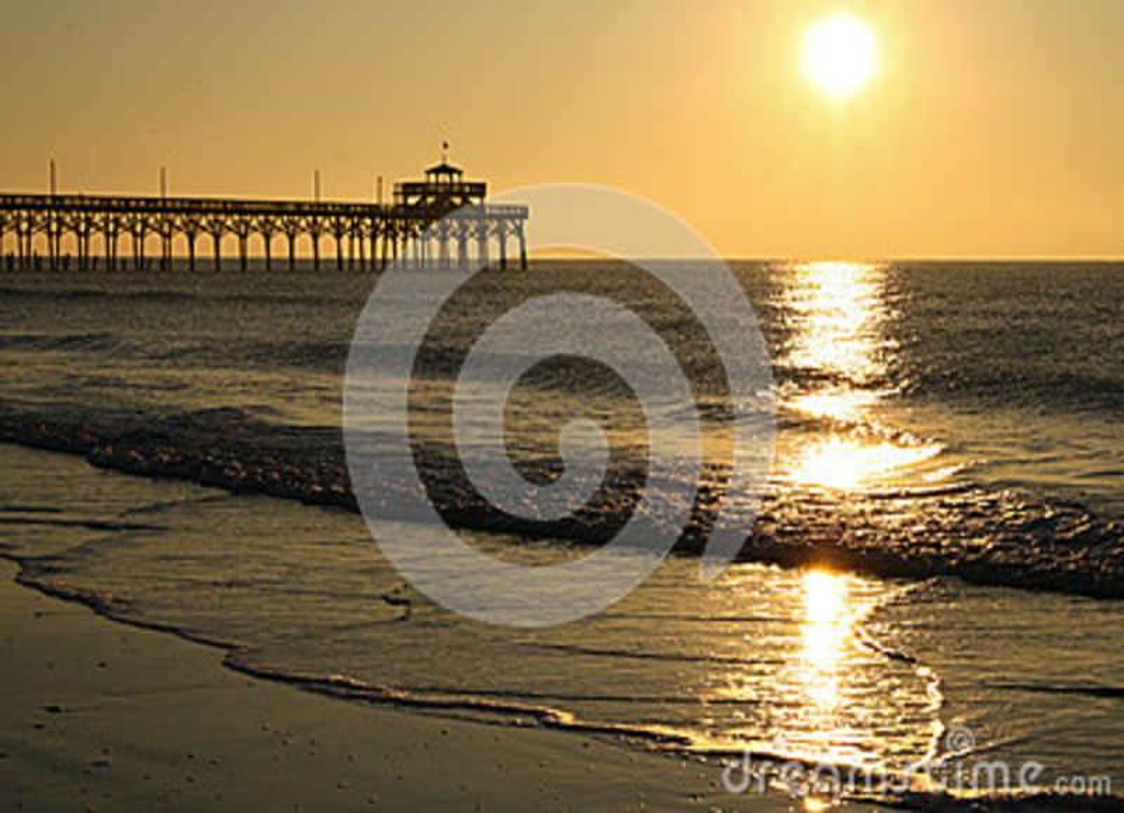 Ландшафт Myrtle Beach пристани рощи вишни восхода солнца