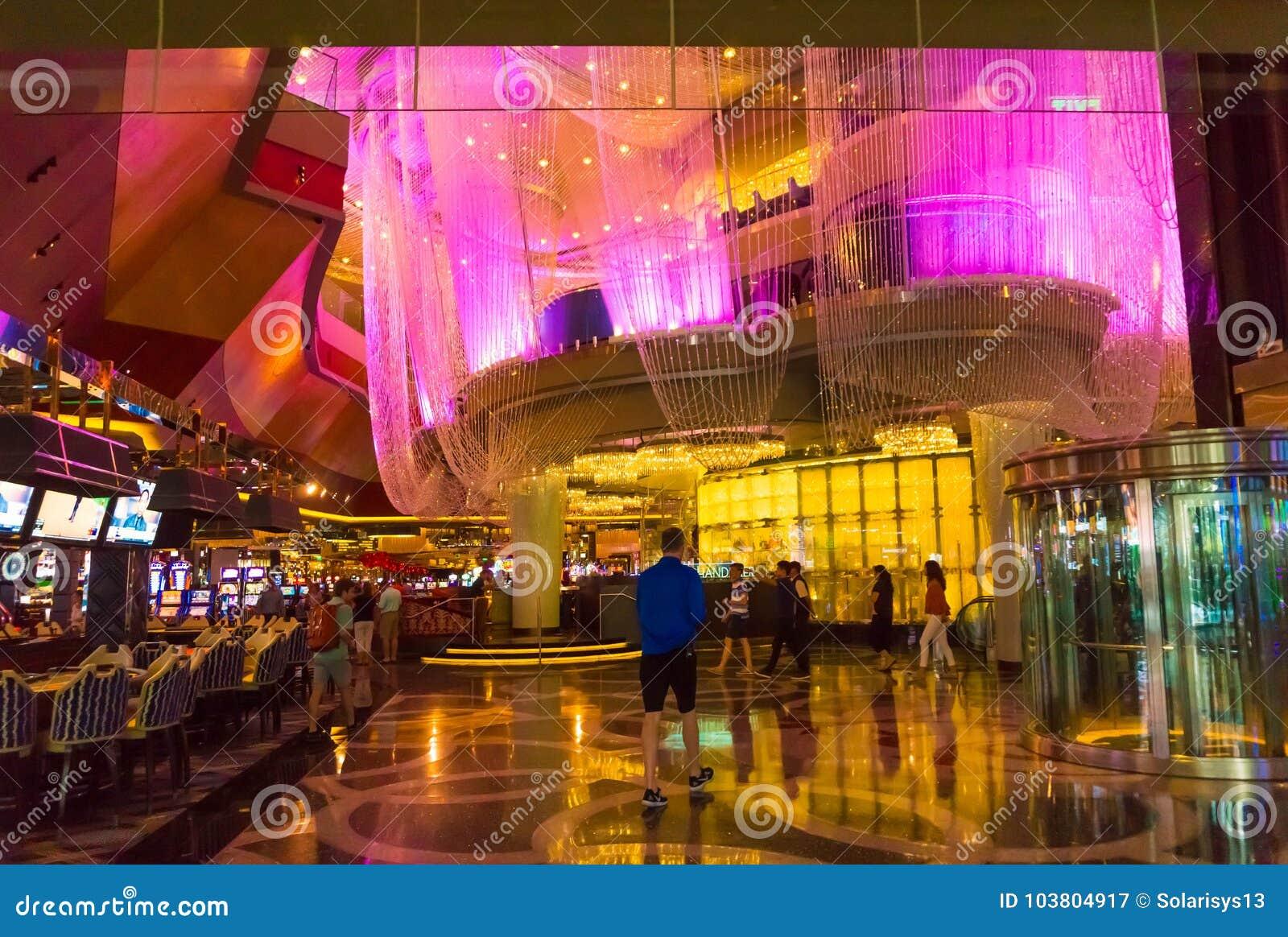 Лас-Вегас, Соединенные Штаты Америки - 6-ое мая 2016: Интерьер на гостинице и казино Wynn