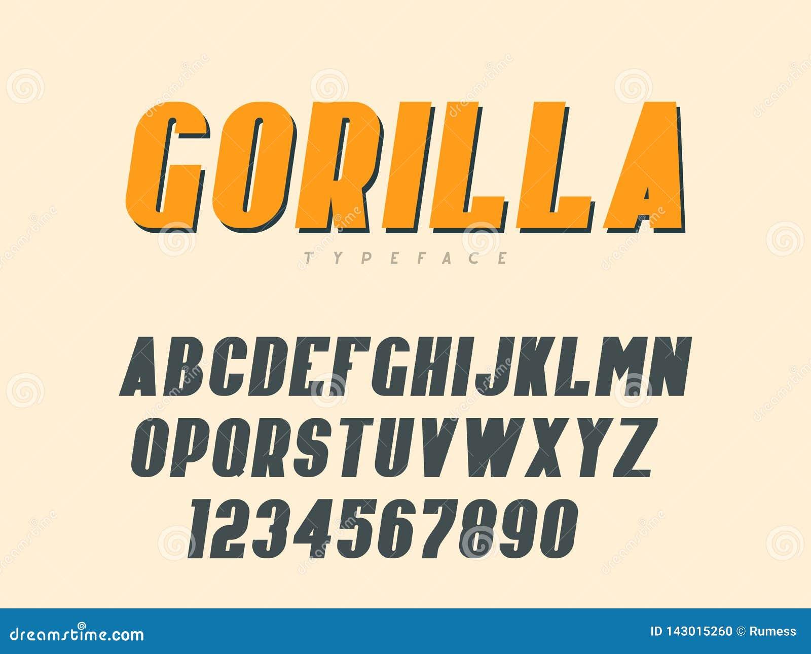 Латинские uppercase письма и номера алфавита также вектор иллюстрации притяжки corel