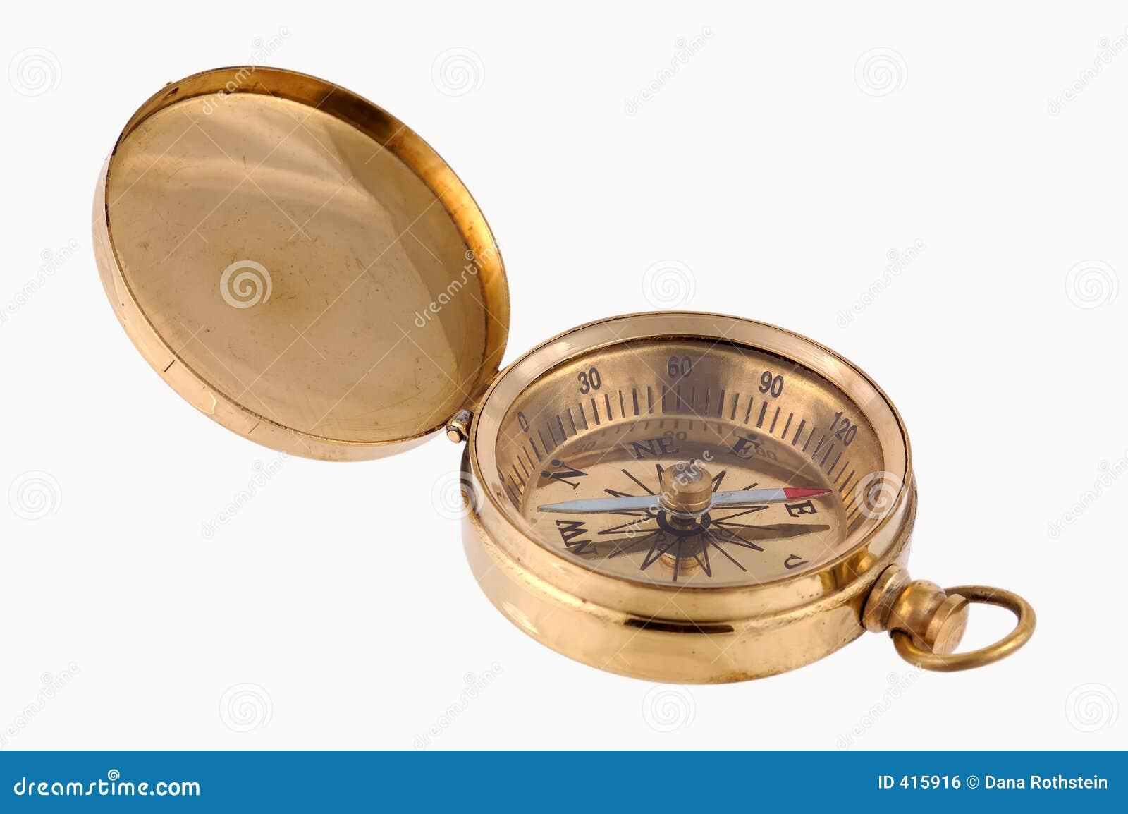латунный компас