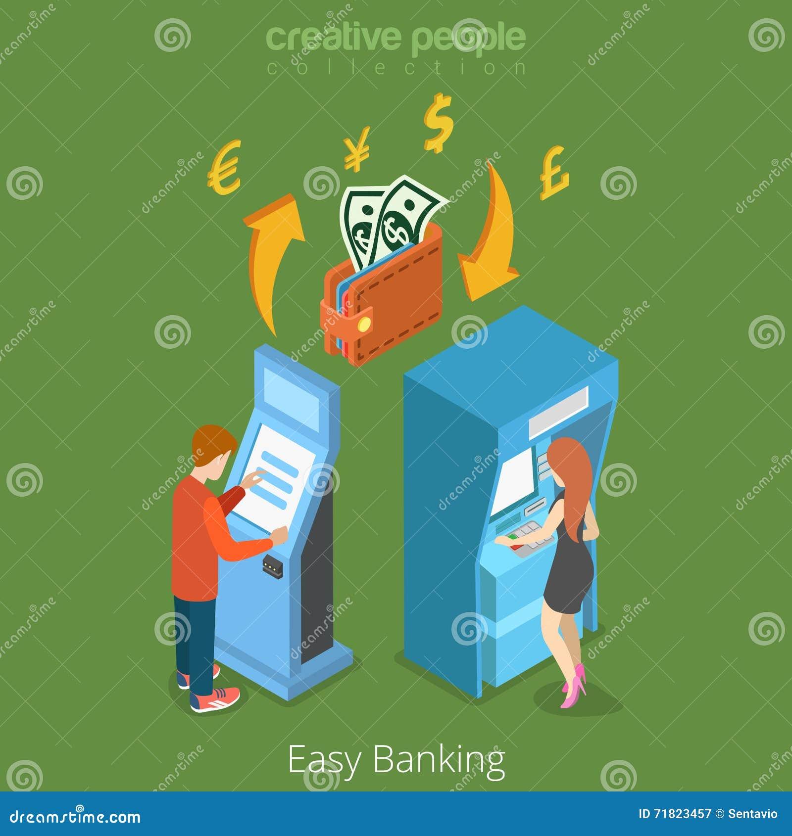 Легкая концепция денежного потока 3d финансов дела банка