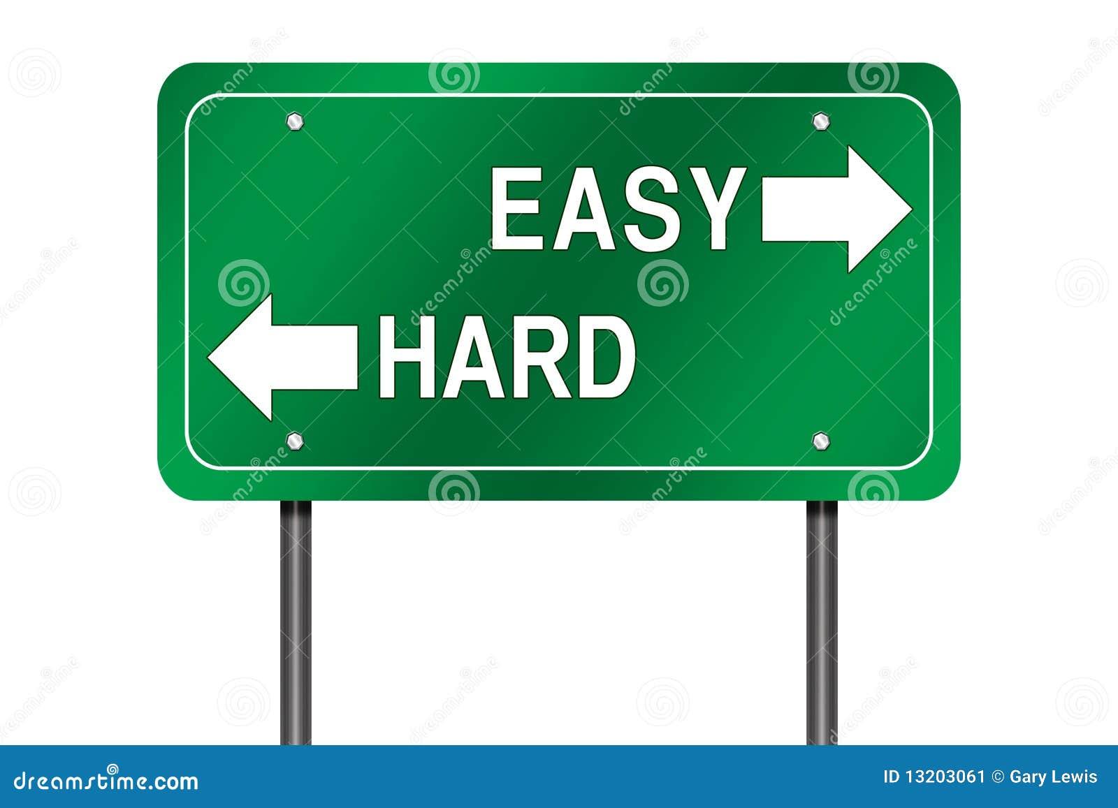 легкий трудный путь знака