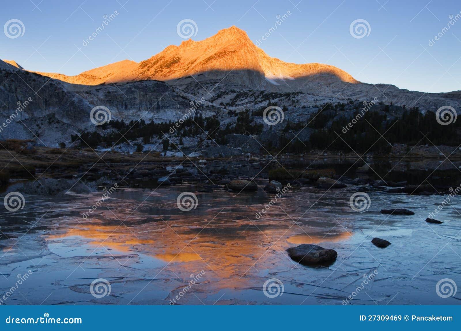 Ледистое озеро гор