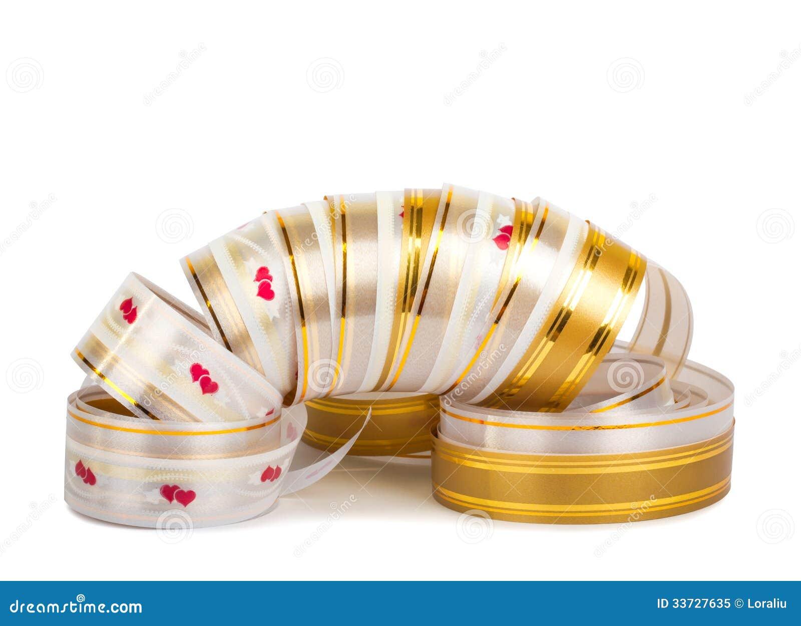 Лента золота бумажная горизонтальная