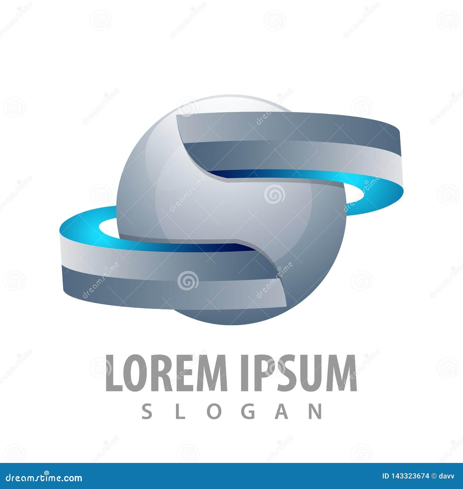 Лента сферы в дизайне концепции стиля 3D Вектор элемента шаблона символа графический