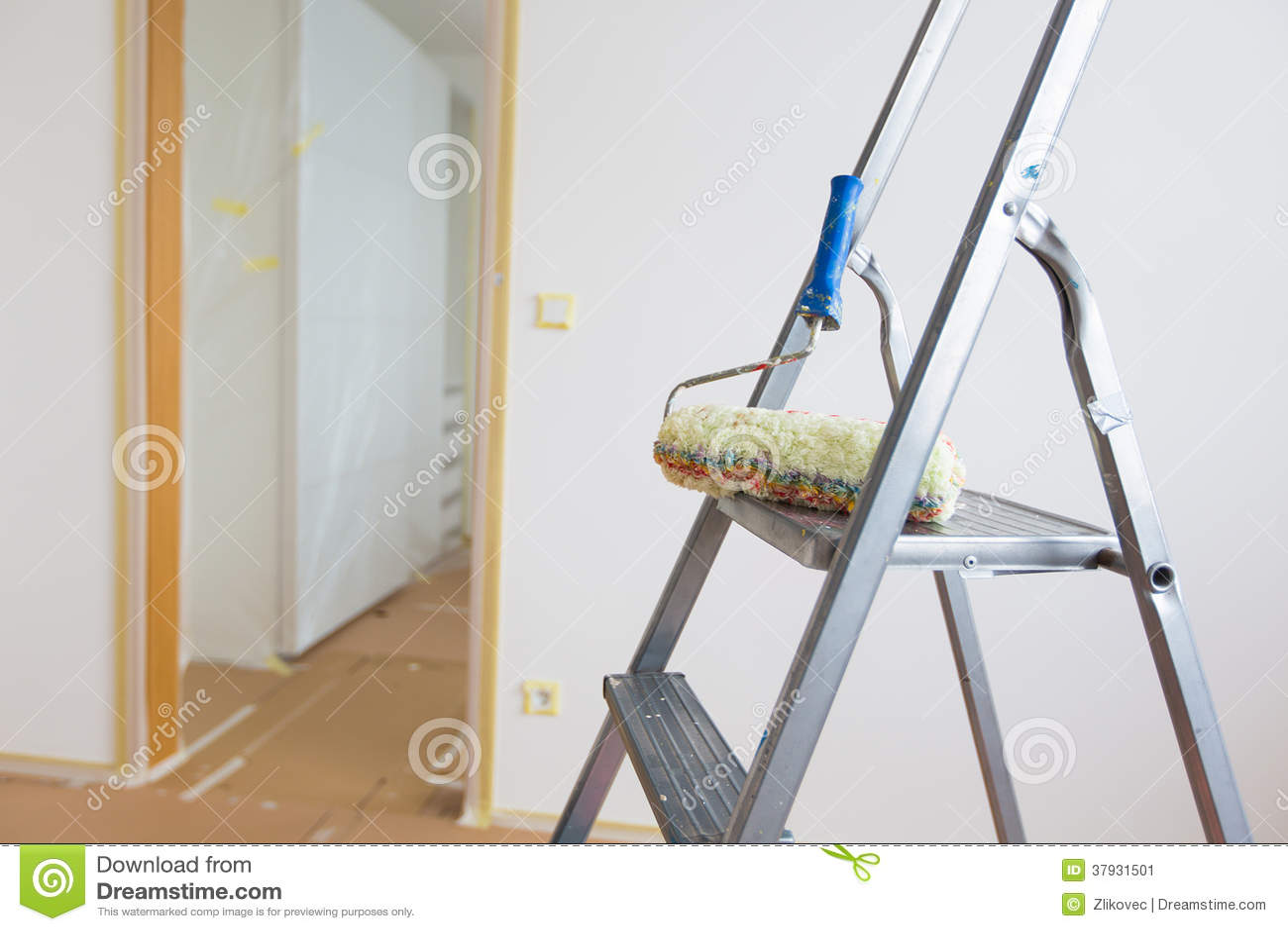 Лестница и ролик