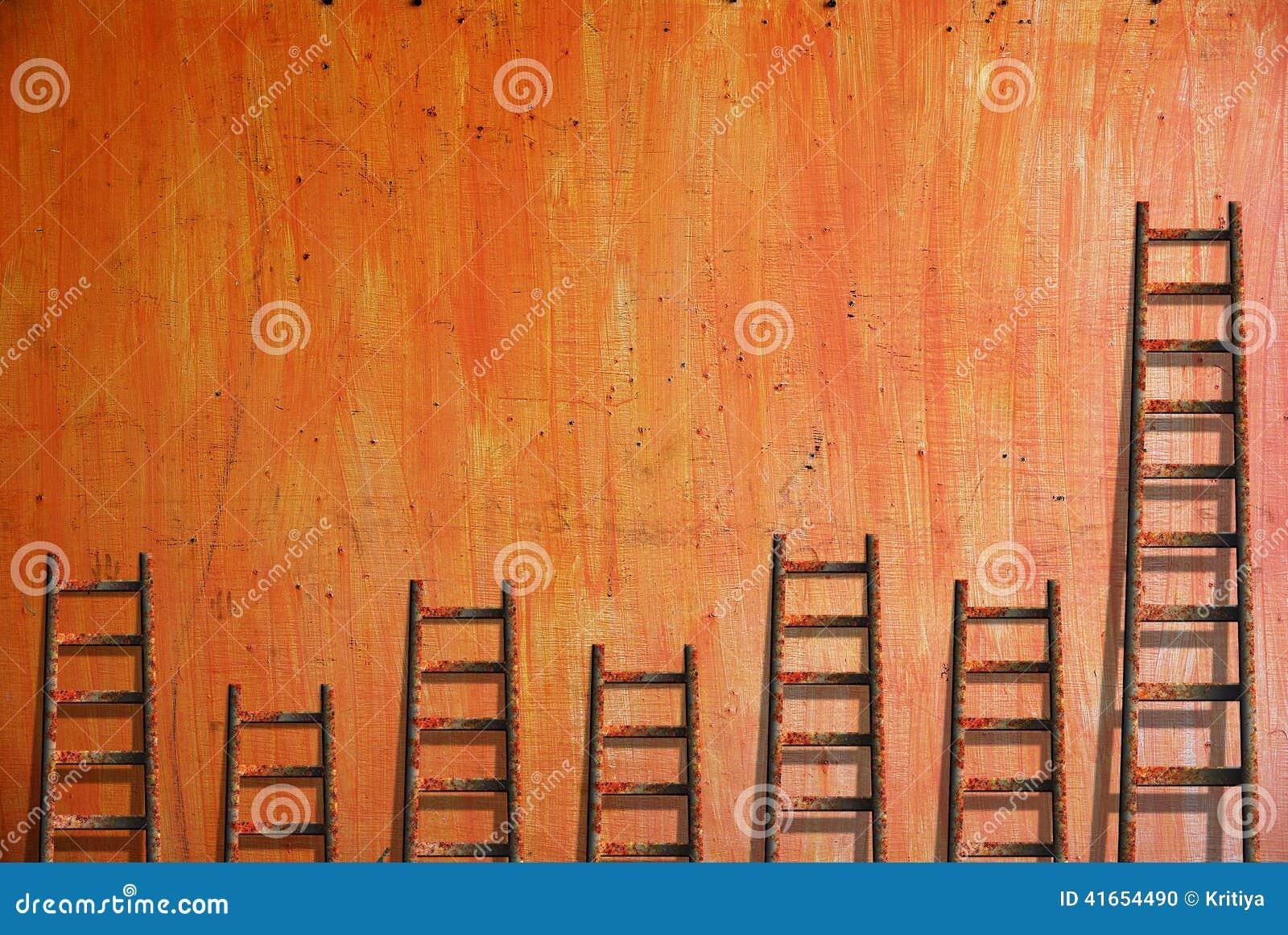 Лестницы на красной стене
