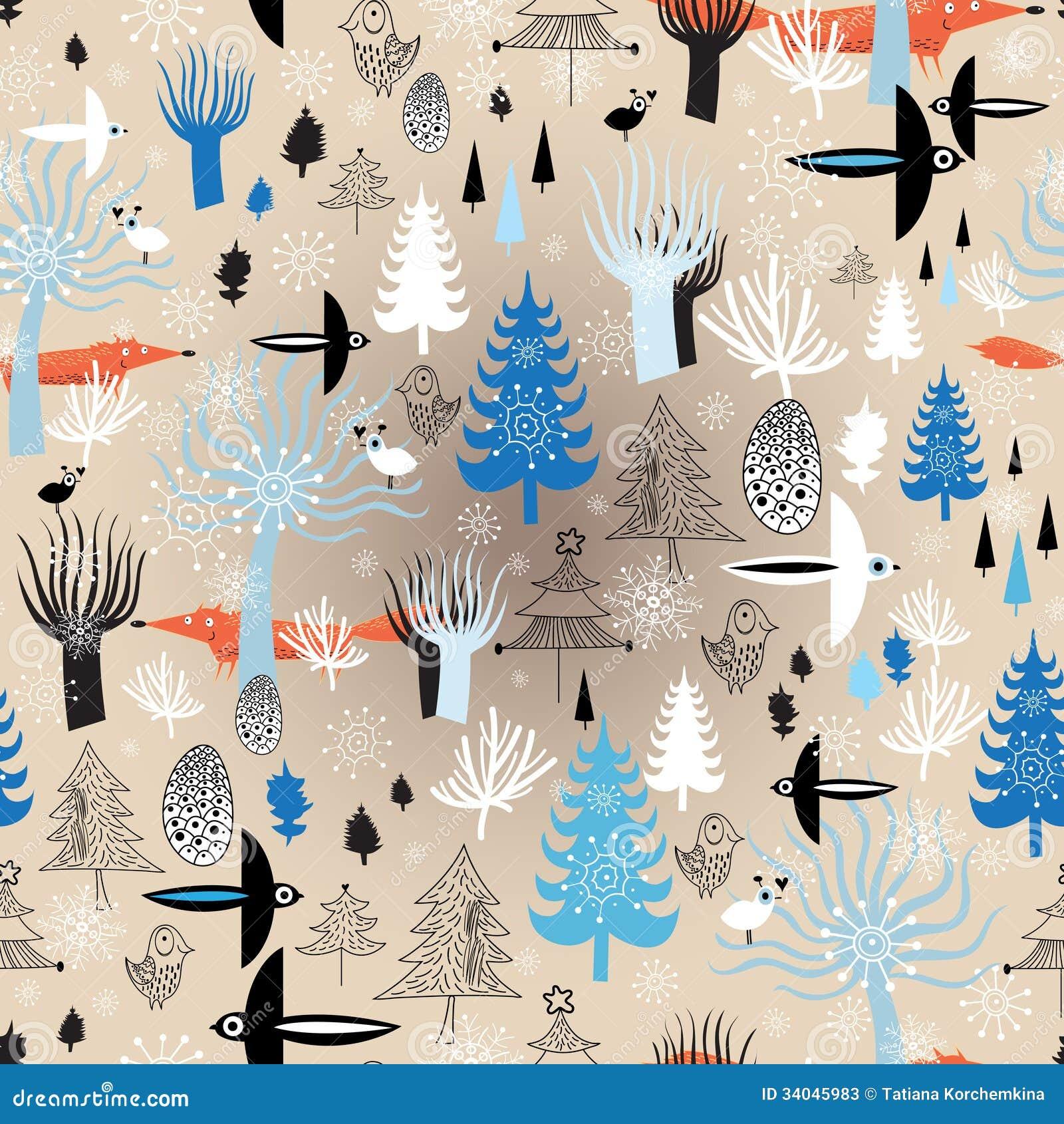 Лес зимы текстуры рождества