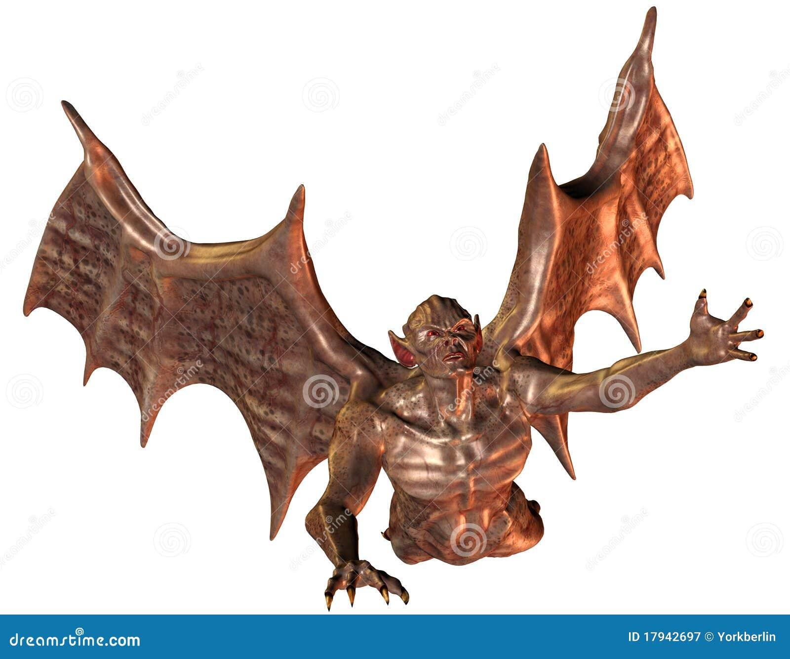летание демона