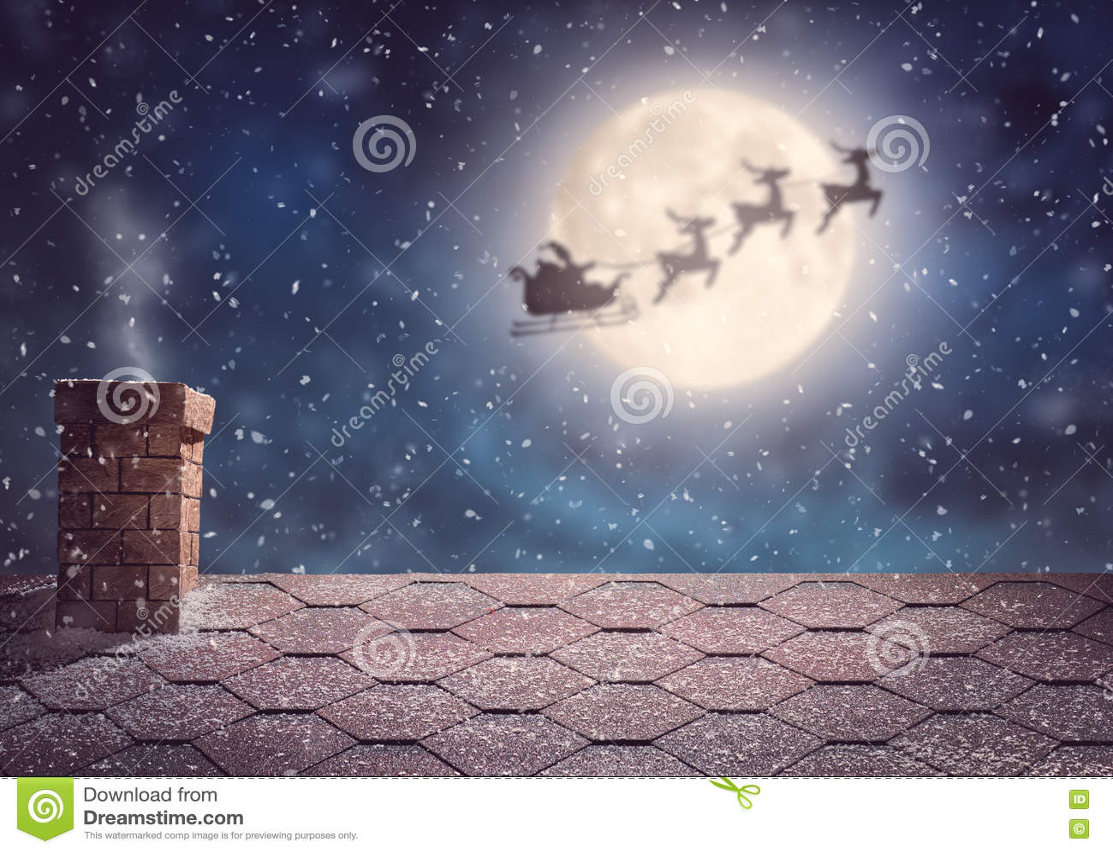 Летание Санта Клауса в его санях