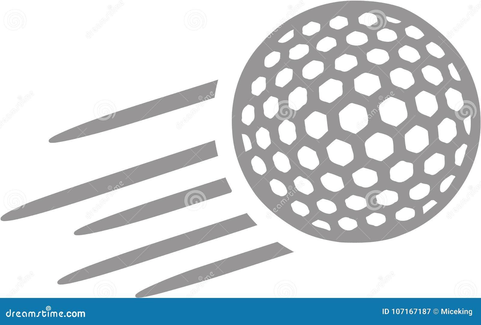 Летание шара для игры в гольф