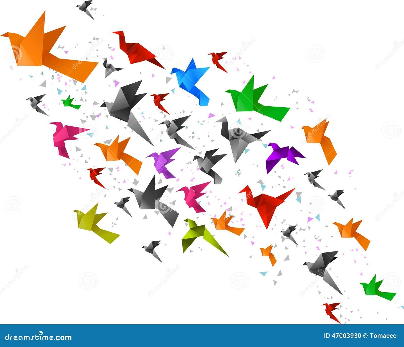 Летать птиц Origami