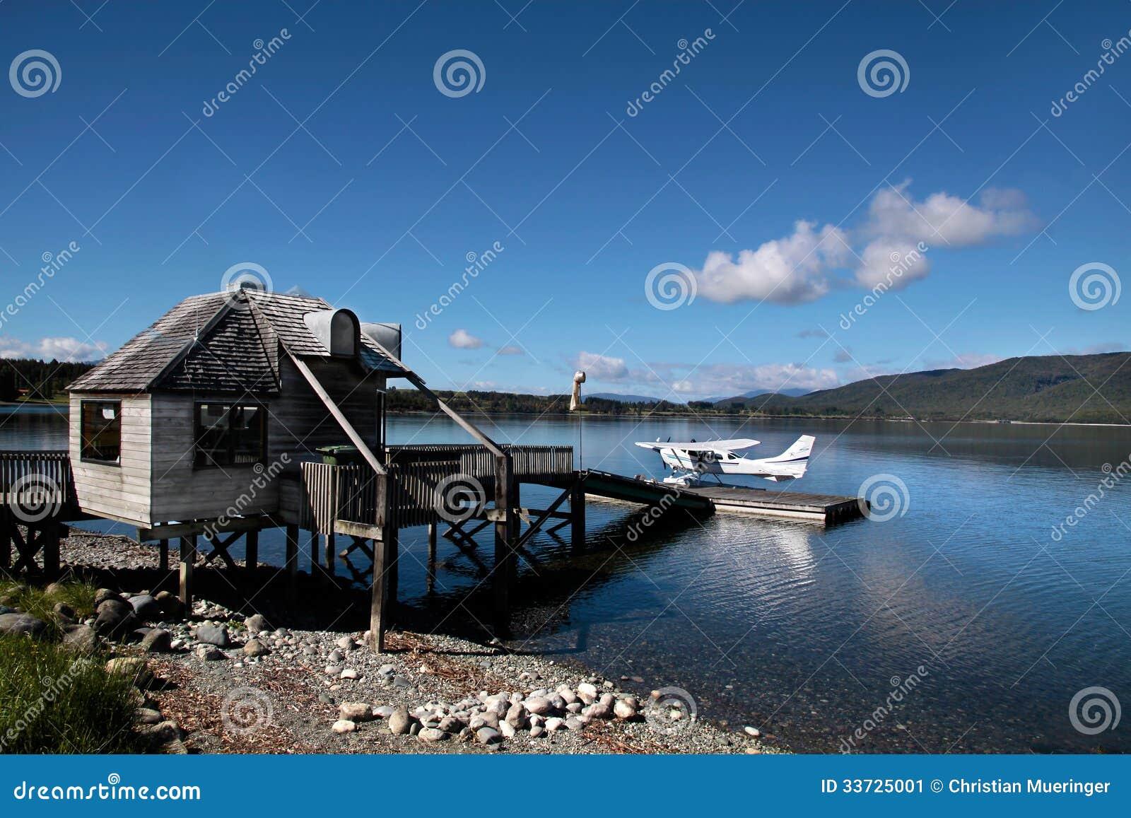 Летающая лодка на озере Te Anau