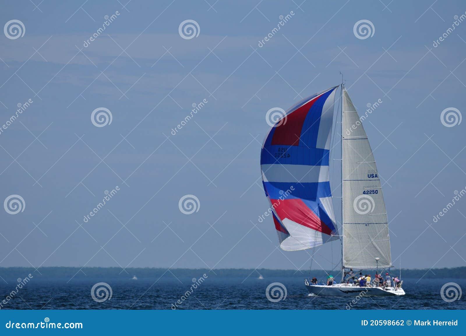 лето spinaker sailing парусника ветрила